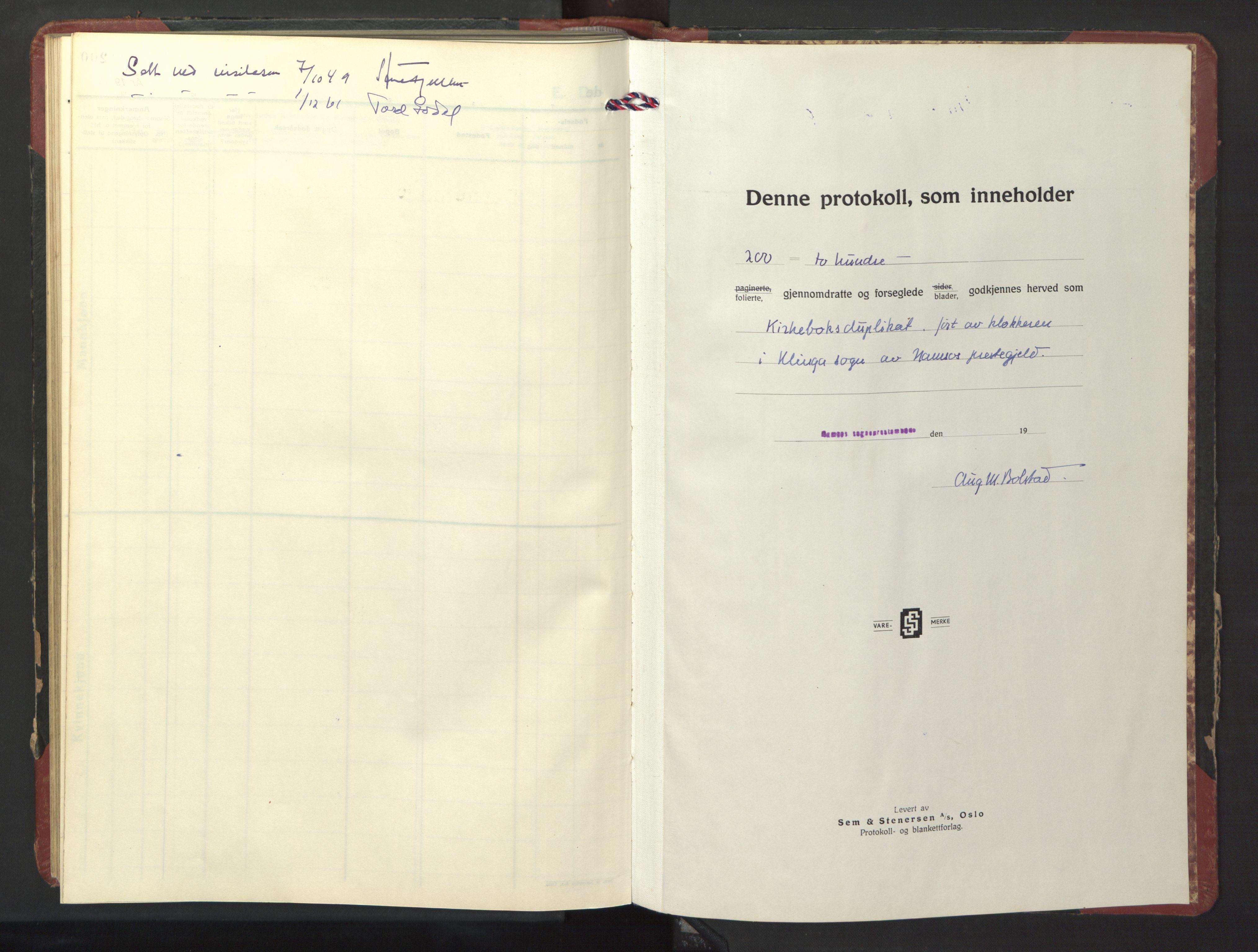 SAT, Ministerialprotokoller, klokkerbøker og fødselsregistre - Nord-Trøndelag, 770/L0592: Klokkerbok nr. 770C03, 1941-1950