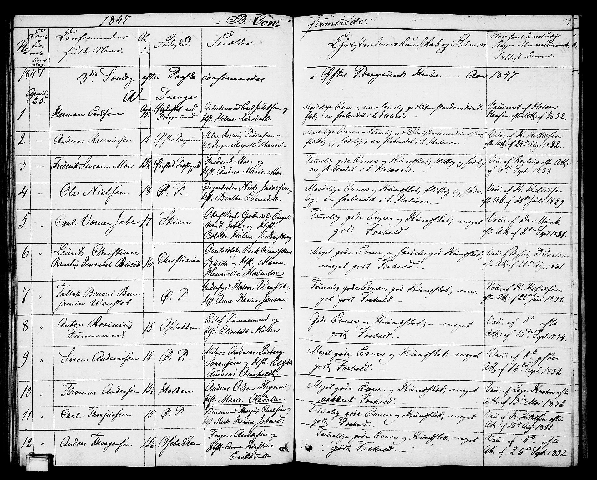 SAKO, Porsgrunn kirkebøker , G/Gb/L0003: Klokkerbok nr. II 3, 1841-1852, s. 92