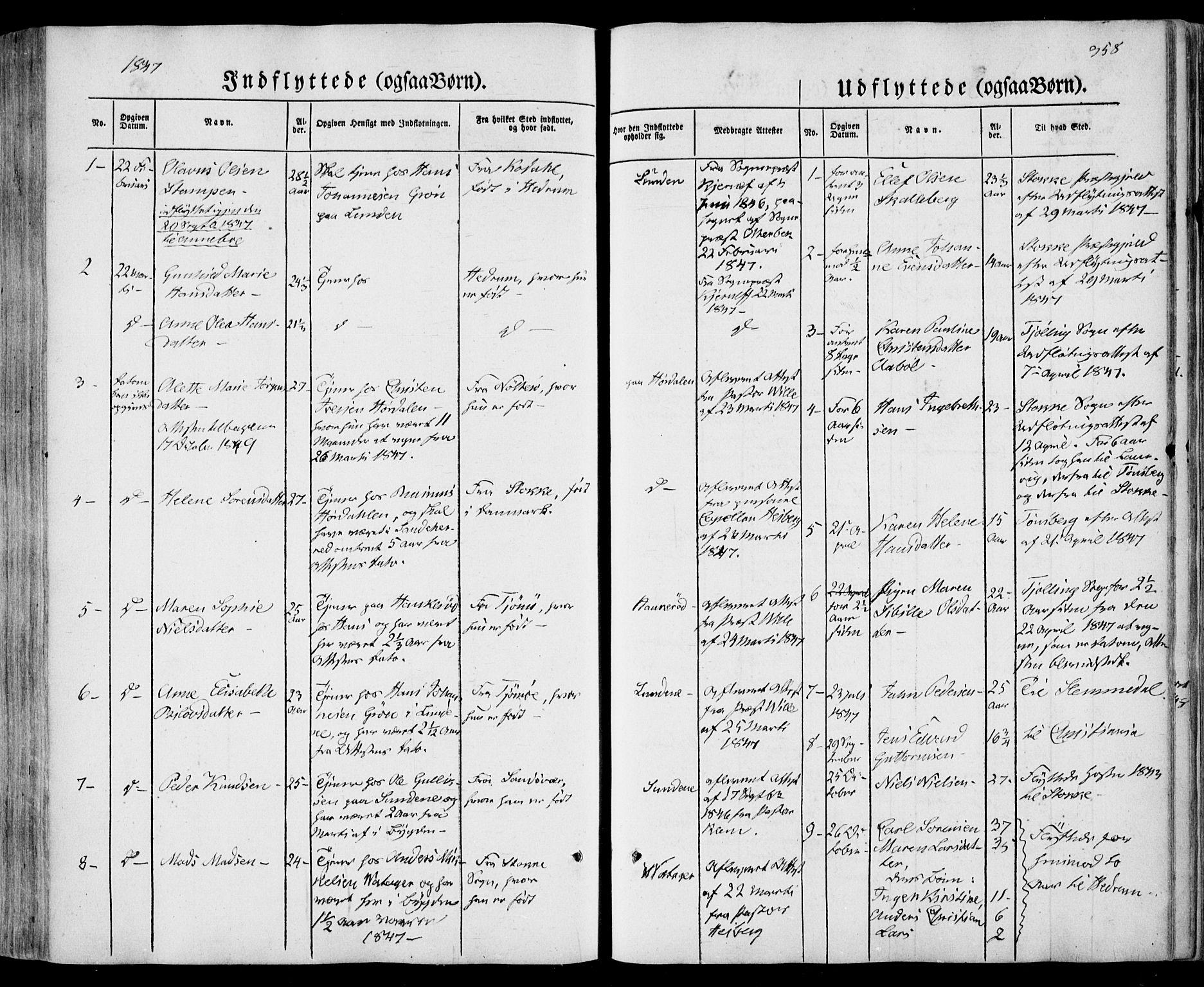 SAKO, Sandar kirkebøker, F/Fa/L0006: Ministerialbok nr. 6, 1847-1860, s. 358