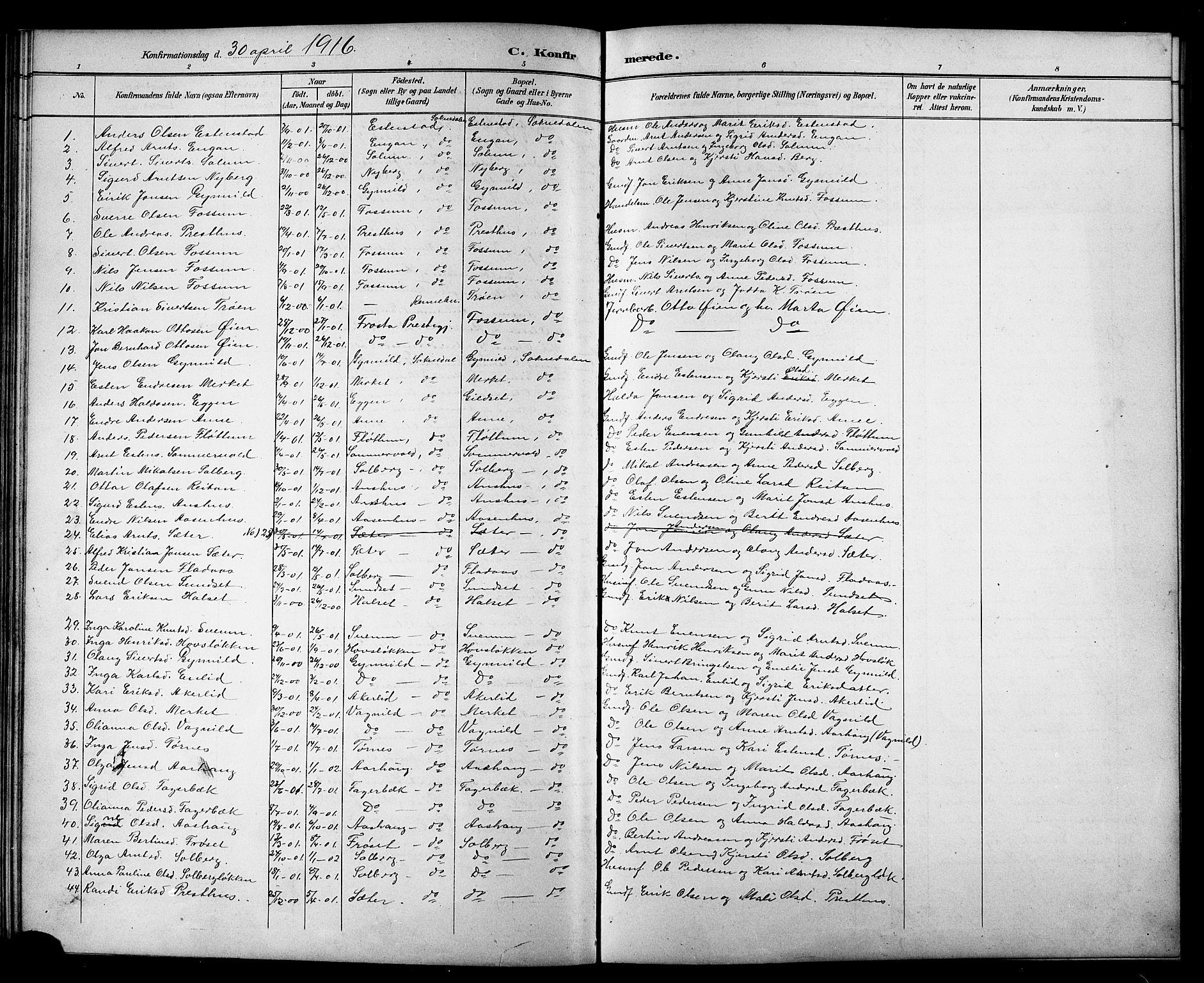 SAT, Ministerialprotokoller, klokkerbøker og fødselsregistre - Sør-Trøndelag, 689/L1044: Klokkerbok nr. 689C03, 1893-1922