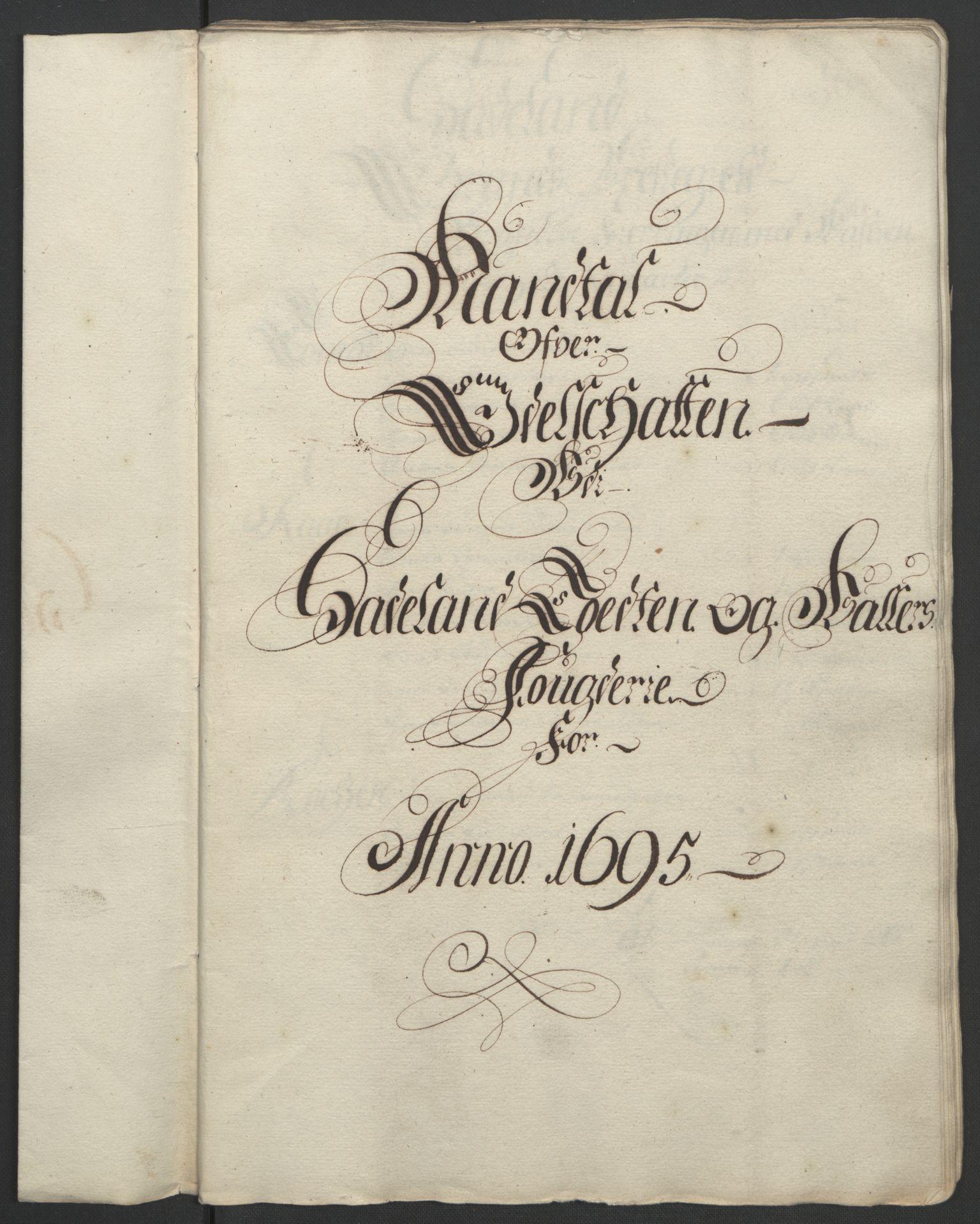 RA, Rentekammeret inntil 1814, Reviderte regnskaper, Fogderegnskap, R18/L1293: Fogderegnskap Hadeland, Toten og Valdres, 1695, s. 63