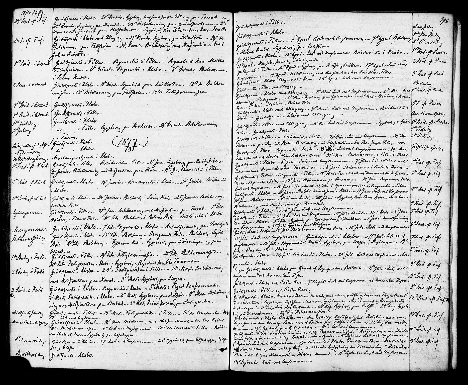 SAT, Ministerialprotokoller, klokkerbøker og fødselsregistre - Sør-Trøndelag, 618/L0442: Ministerialbok nr. 618A06 /1, 1863-1879, s. 396