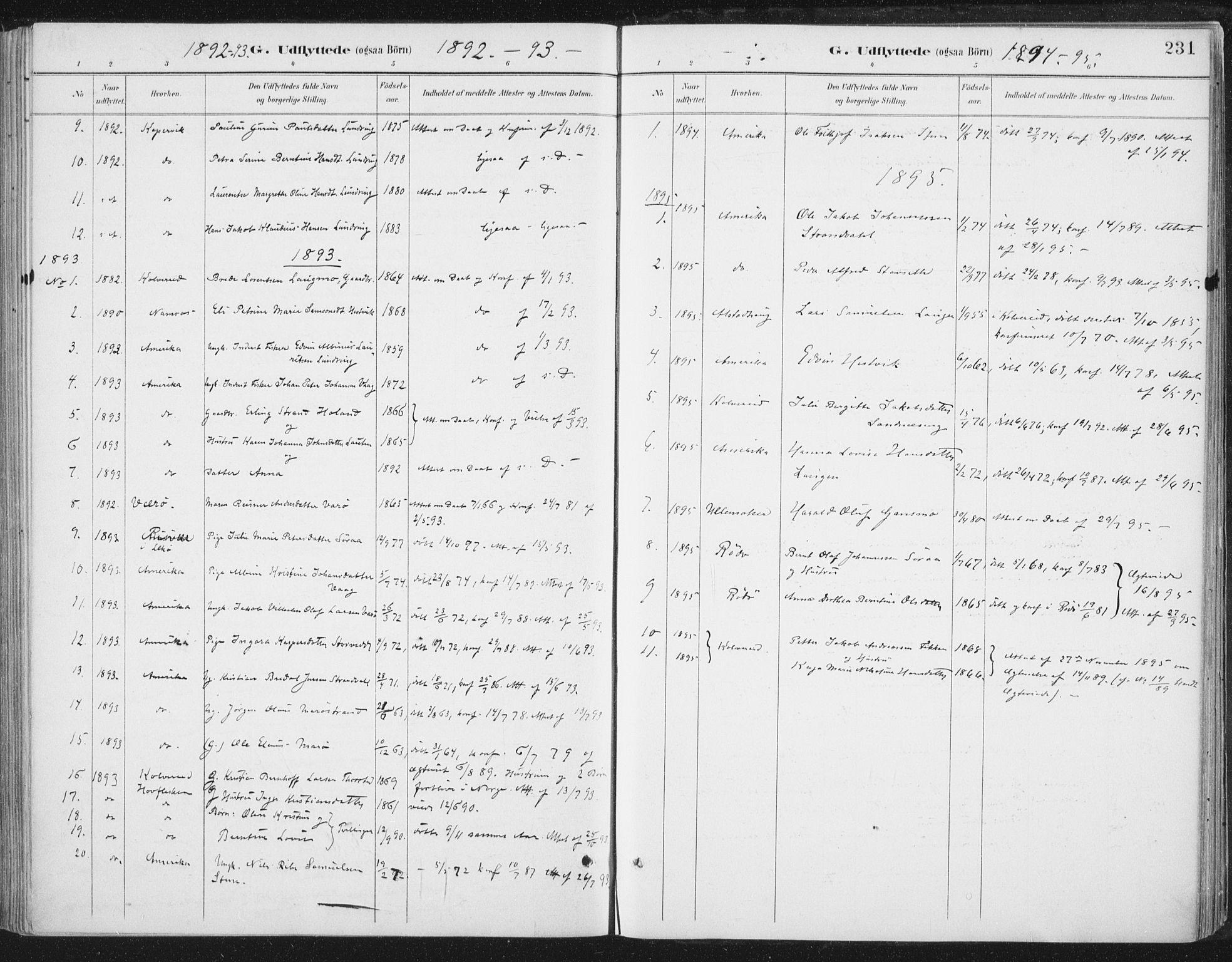 SAT, Ministerialprotokoller, klokkerbøker og fødselsregistre - Nord-Trøndelag, 784/L0673: Ministerialbok nr. 784A08, 1888-1899, s. 231