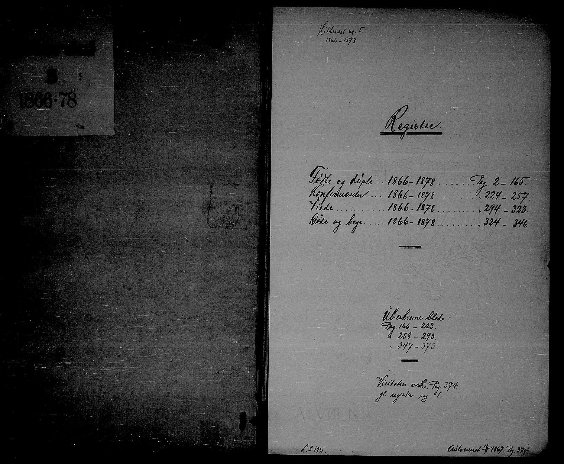 SAKO, Heddal kirkebøker, G/Ga/L0001: Klokkerbok nr. I 1, 1866-1878