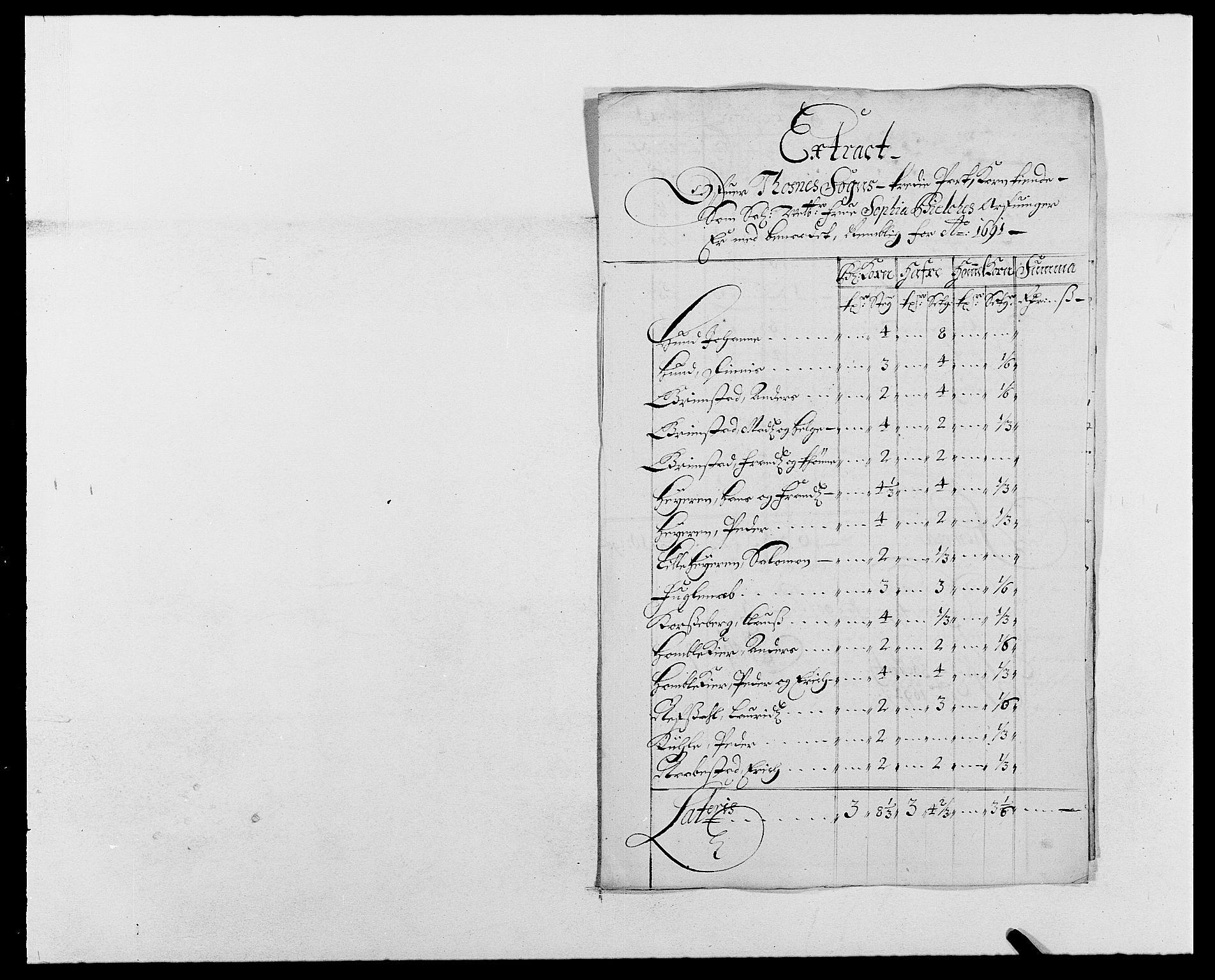 RA, Rentekammeret inntil 1814, Reviderte regnskaper, Fogderegnskap, R03/L0119: Fogderegnskap Onsøy, Tune, Veme og Åbygge fogderi, 1690-1691, s. 433