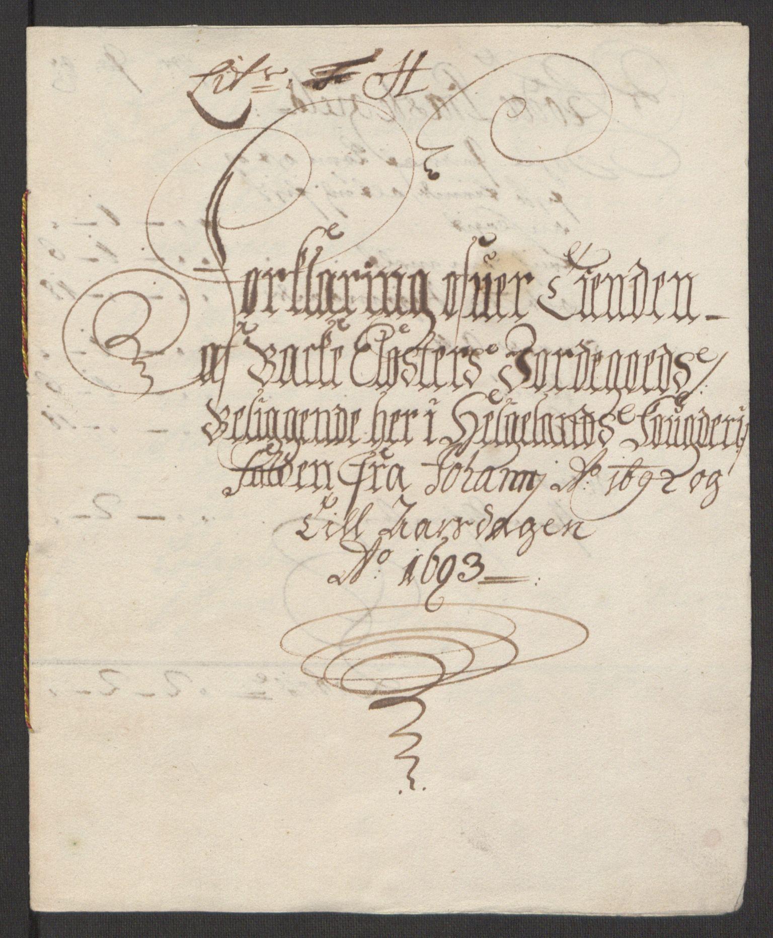 RA, Rentekammeret inntil 1814, Reviderte regnskaper, Fogderegnskap, R65/L4505: Fogderegnskap Helgeland, 1693-1696, s. 128