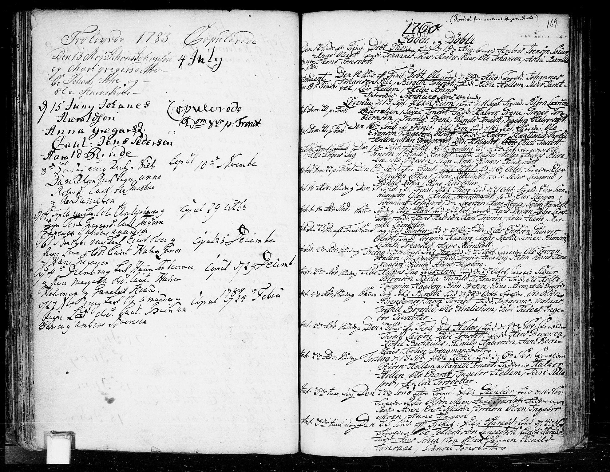 SAKO, Heddal kirkebøker, F/Fa/L0003: Ministerialbok nr. I 3, 1723-1783, s. 169