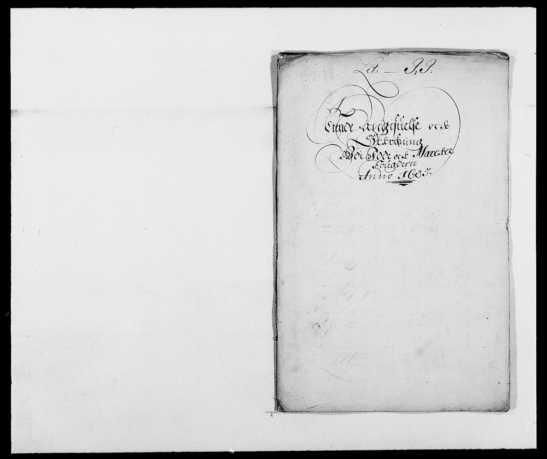 RA, Rentekammeret inntil 1814, Reviderte regnskaper, Fogderegnskap, R01/L0006: Fogderegnskap Idd og Marker, 1685-1686, s. 53