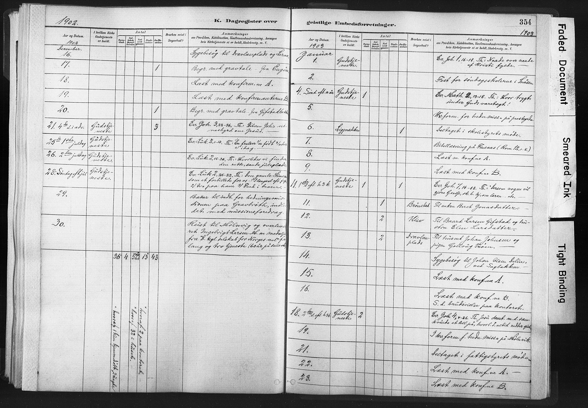SAT, Ministerialprotokoller, klokkerbøker og fødselsregistre - Nord-Trøndelag, 749/L0474: Ministerialbok nr. 749A08, 1887-1903, s. 354