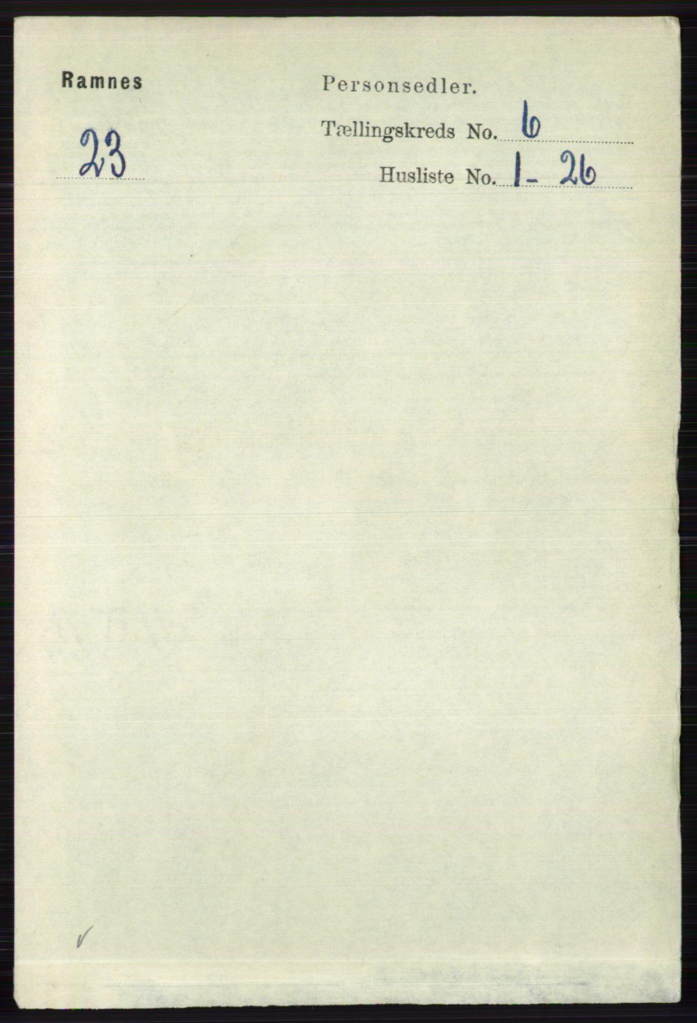 RA, Folketelling 1891 for 0718 Ramnes herred, 1891, s. 3319