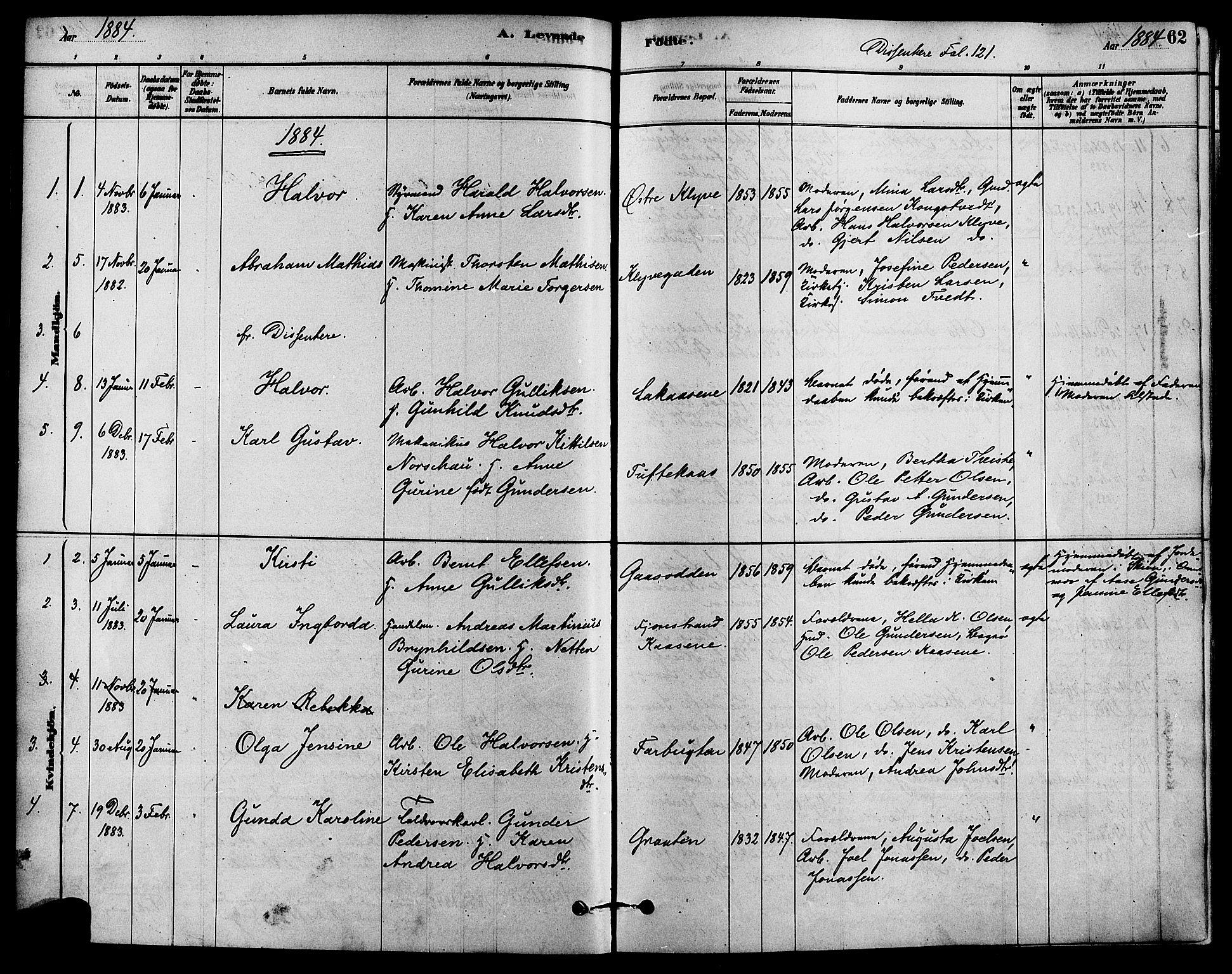 SAKO, Solum kirkebøker, F/Fa/L0009: Ministerialbok nr. I 9, 1877-1887, s. 62