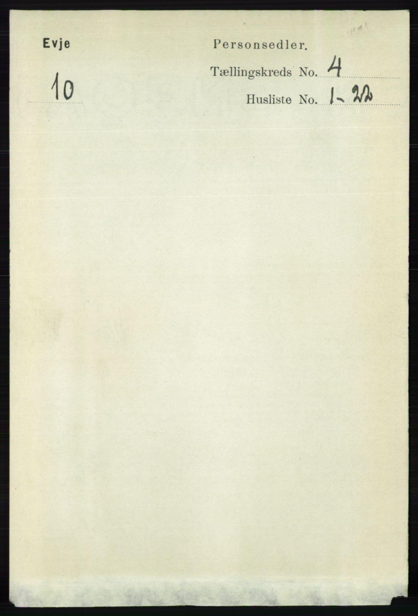 RA, Folketelling 1891 for 0937 Evje herred, 1891, s. 948