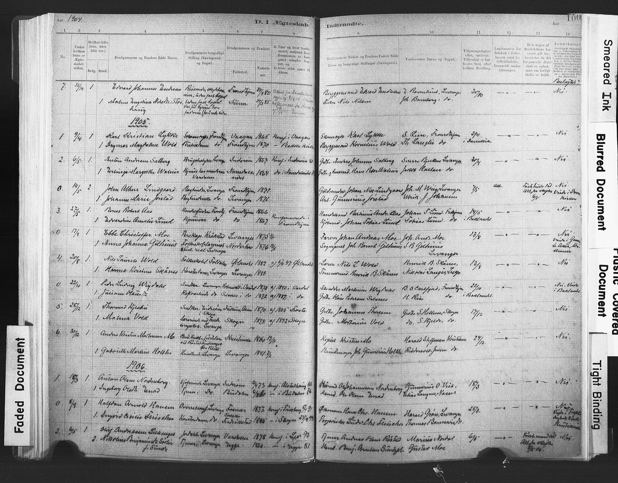 SAT, Ministerialprotokoller, klokkerbøker og fødselsregistre - Nord-Trøndelag, 720/L0189: Ministerialbok nr. 720A05, 1880-1911, s. 100