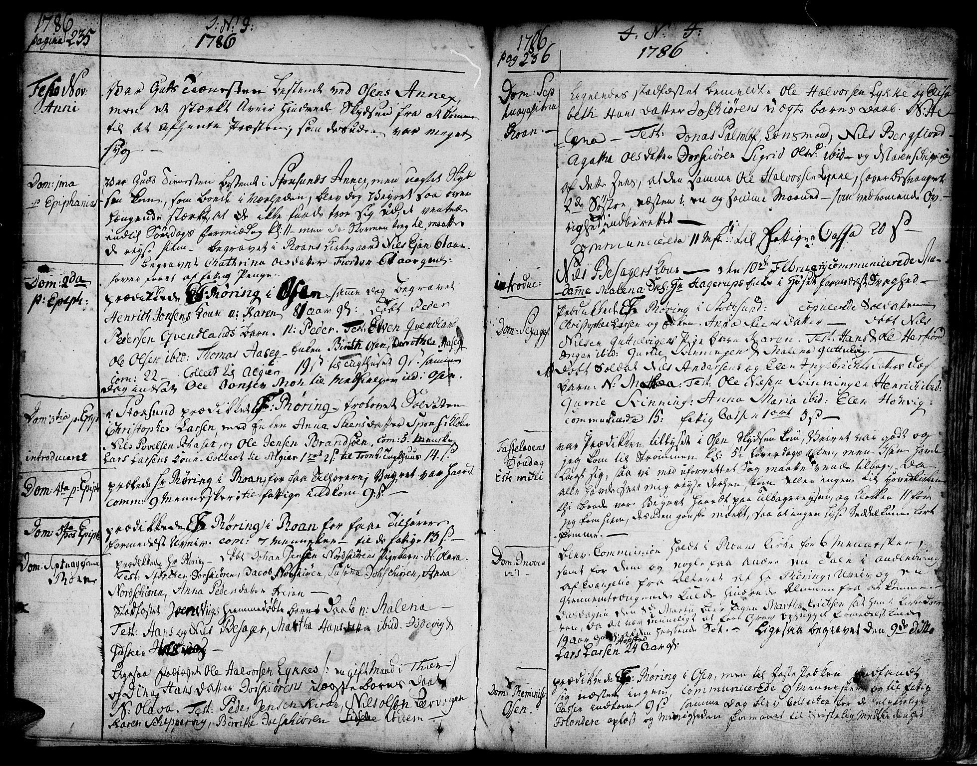 SAT, Ministerialprotokoller, klokkerbøker og fødselsregistre - Sør-Trøndelag, 657/L0700: Ministerialbok nr. 657A01, 1732-1801, s. 335-336