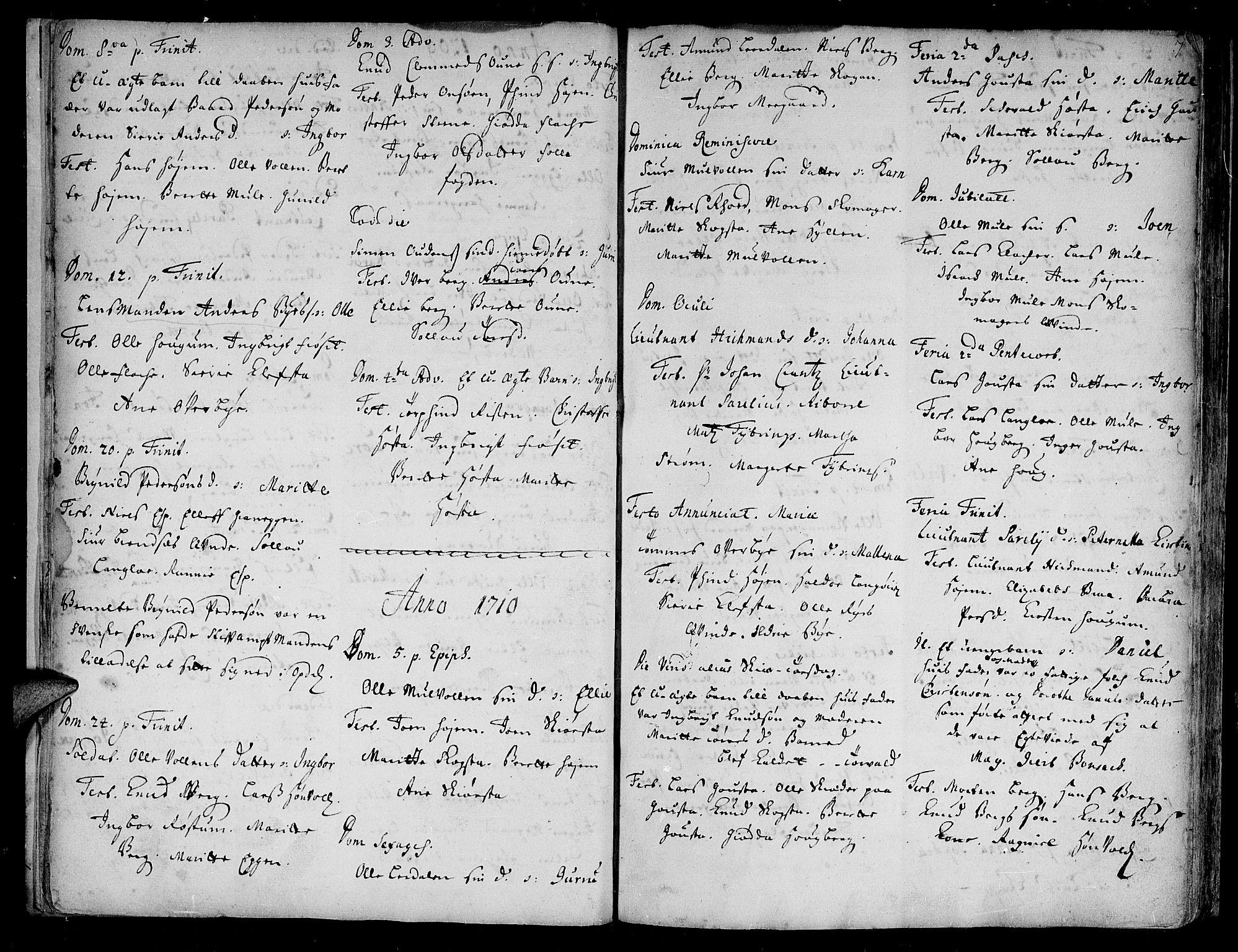 SAT, Ministerialprotokoller, klokkerbøker og fødselsregistre - Sør-Trøndelag, 612/L0368: Ministerialbok nr. 612A02, 1702-1753, s. 7