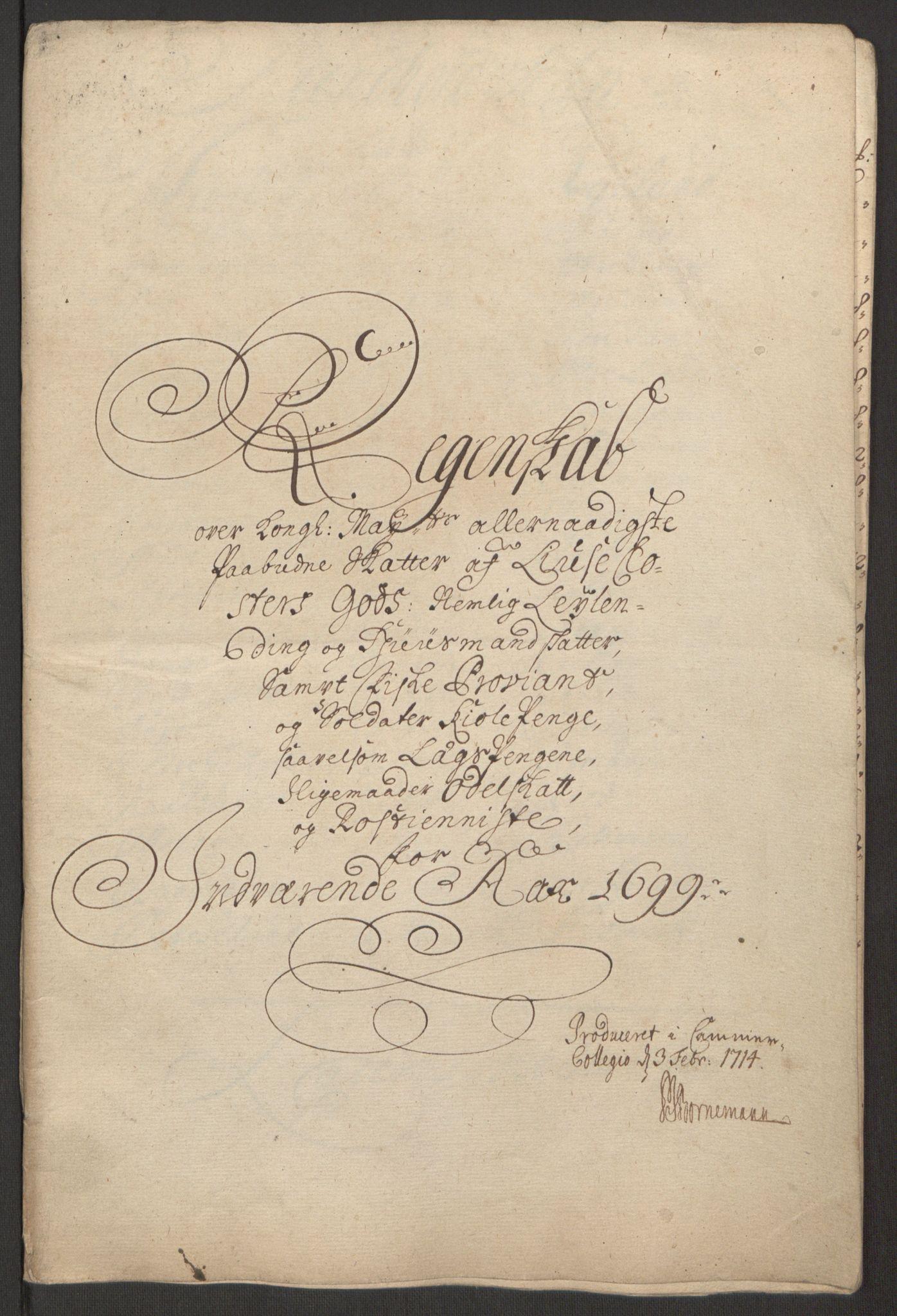 RA, Rentekammeret inntil 1814, Reviderte regnskaper, Fogderegnskap, R50/L3159: Fogderegnskap Lyse kloster, 1691-1709, s. 89