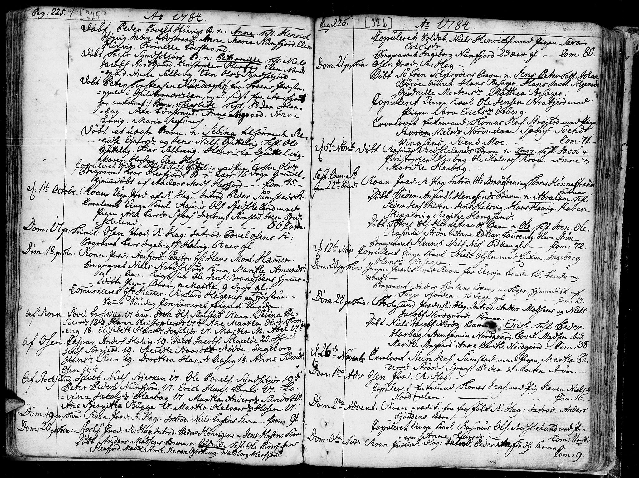 SAT, Ministerialprotokoller, klokkerbøker og fødselsregistre - Sør-Trøndelag, 657/L0700: Ministerialbok nr. 657A01, 1732-1801, s. 325-326