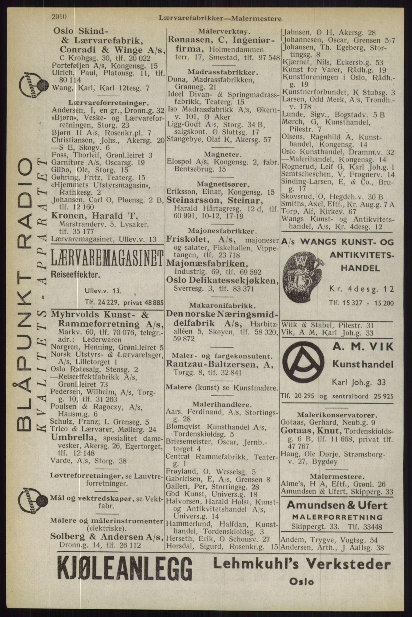 RA, Oslo adressebok (publikasjon)*, 1944, s. 2910