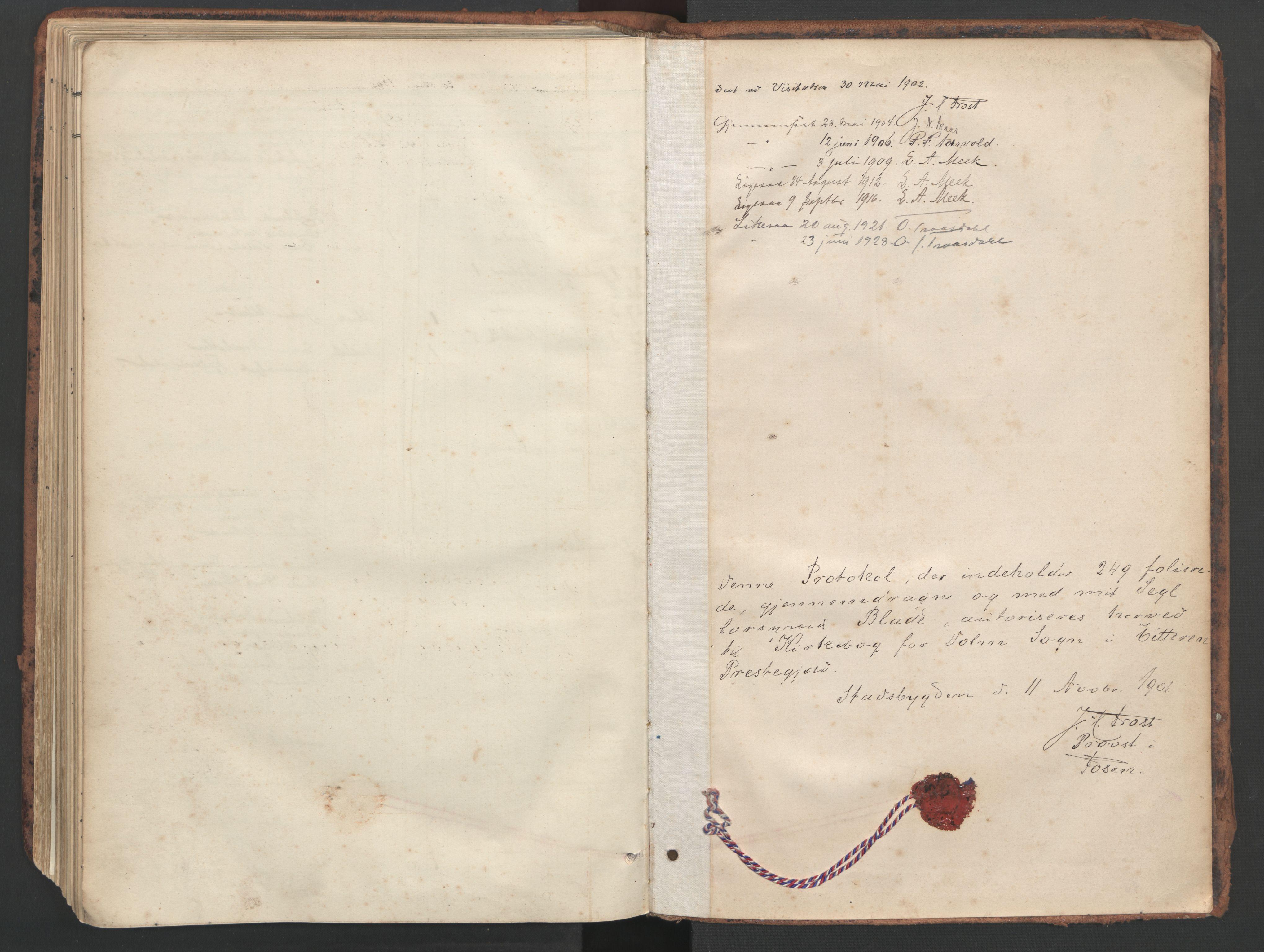 SAT, Ministerialprotokoller, klokkerbøker og fødselsregistre - Sør-Trøndelag, 634/L0537: Ministerialbok nr. 634A13, 1896-1922, s. 250