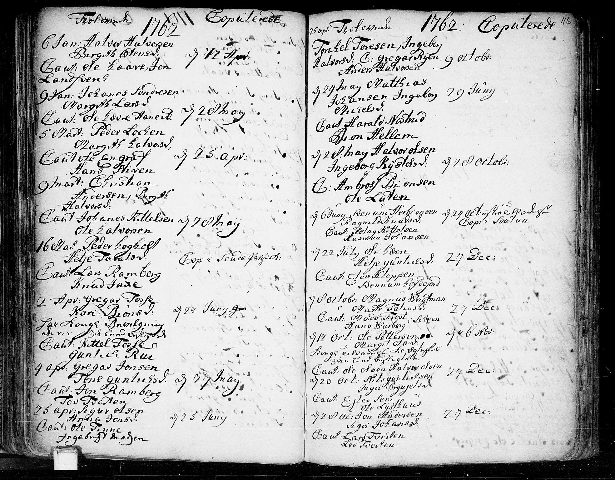 SAKO, Heddal kirkebøker, F/Fa/L0003: Ministerialbok nr. I 3, 1723-1783, s. 116