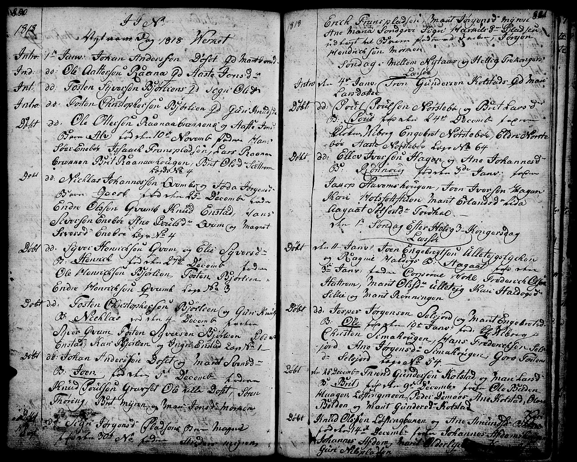 SAH, Lesja prestekontor, Ministerialbok nr. 3, 1777-1819, s. 880-881