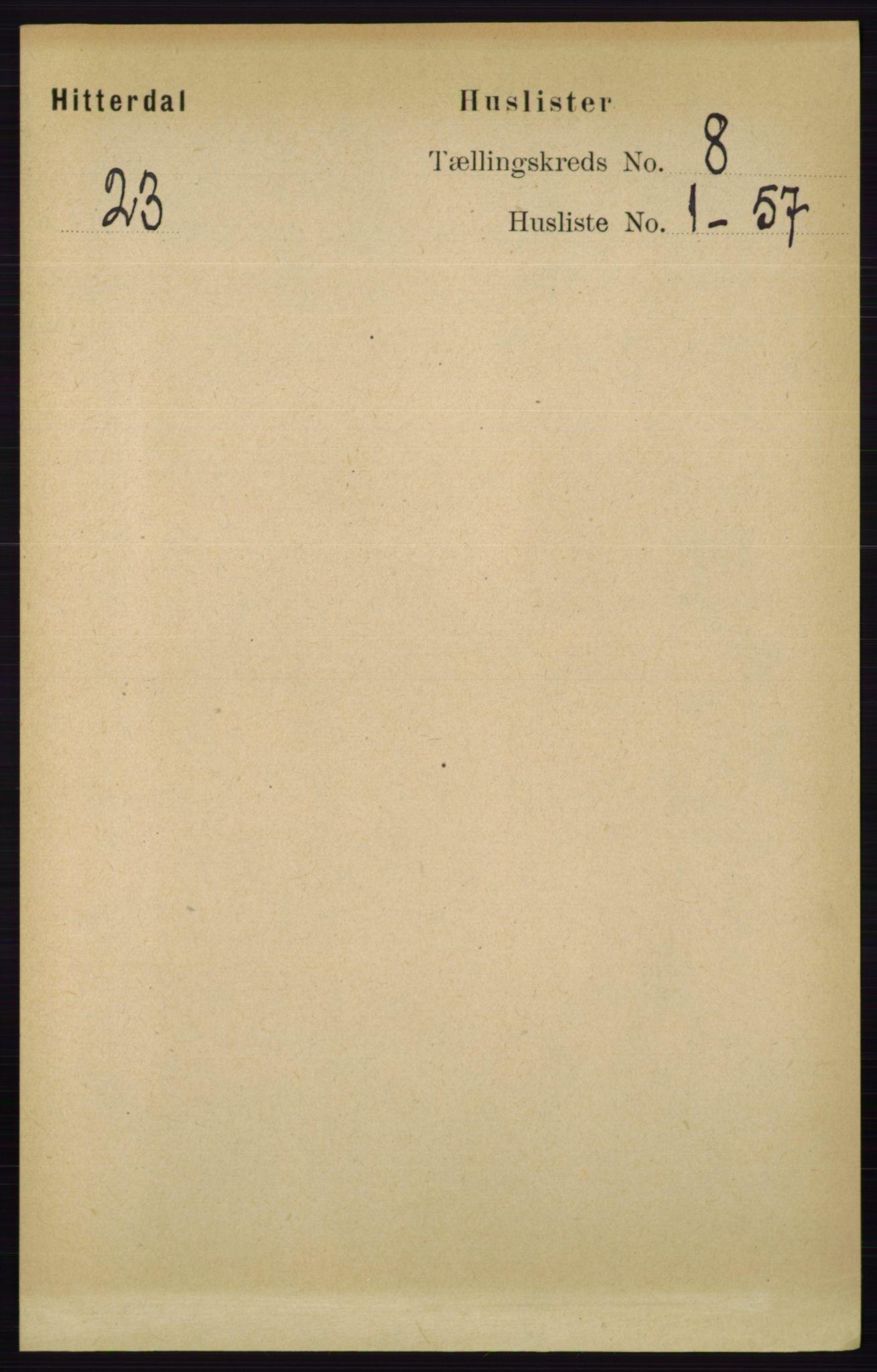 RA, Folketelling 1891 for 0823 Heddal herred, 1891, s. 3434
