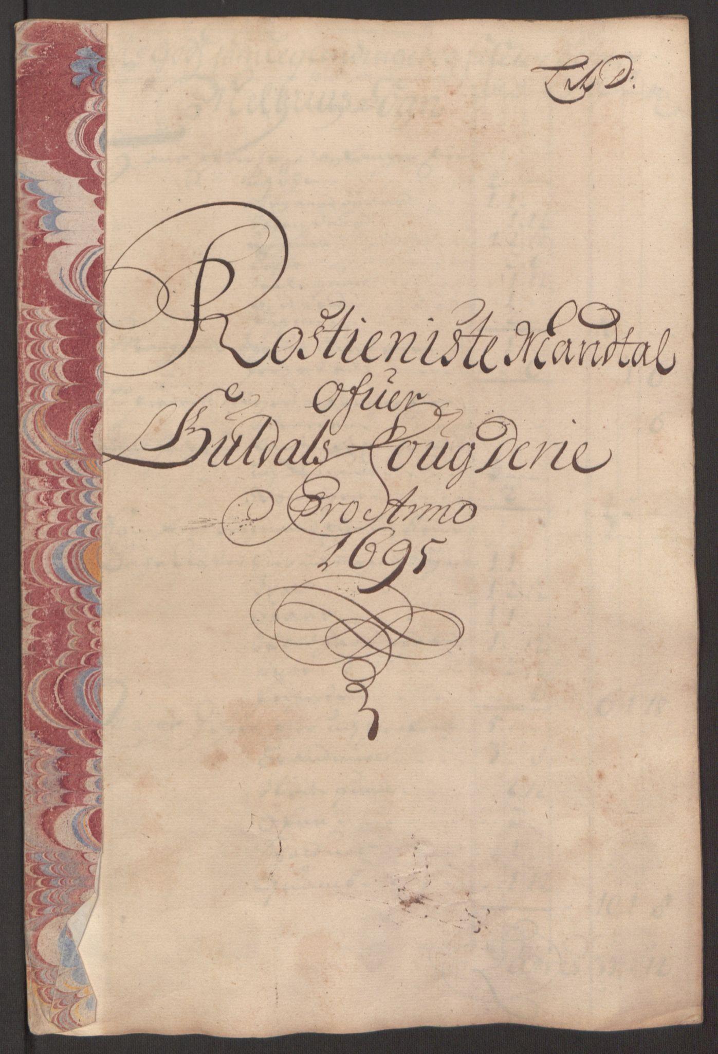 RA, Rentekammeret inntil 1814, Reviderte regnskaper, Fogderegnskap, R60/L3945: Fogderegnskap Orkdal og Gauldal, 1695, s. 330