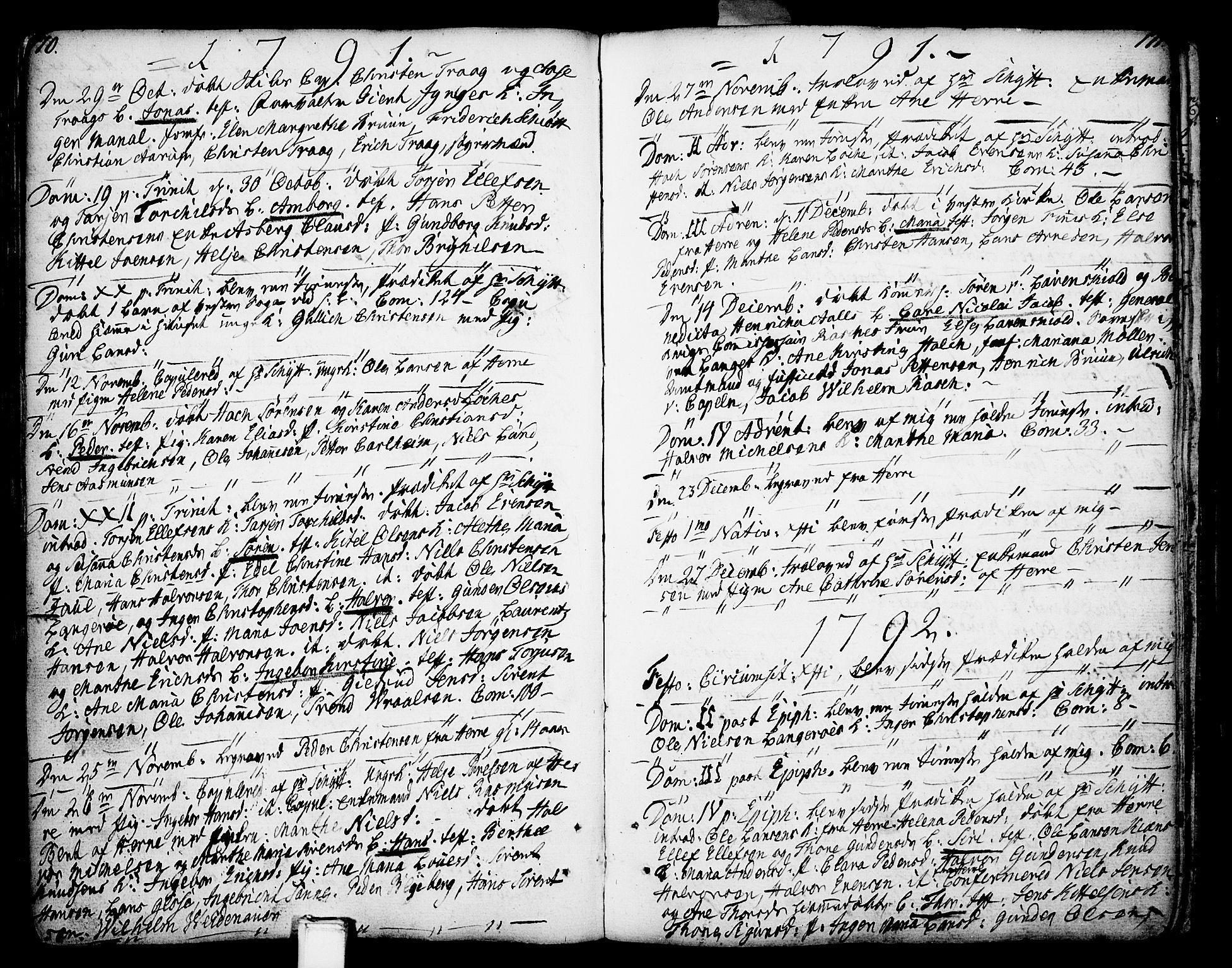 SAKO, Porsgrunn kirkebøker , F/Fa/L0002: Ministerialbok nr. 2, 1764-1814, s. 170-171