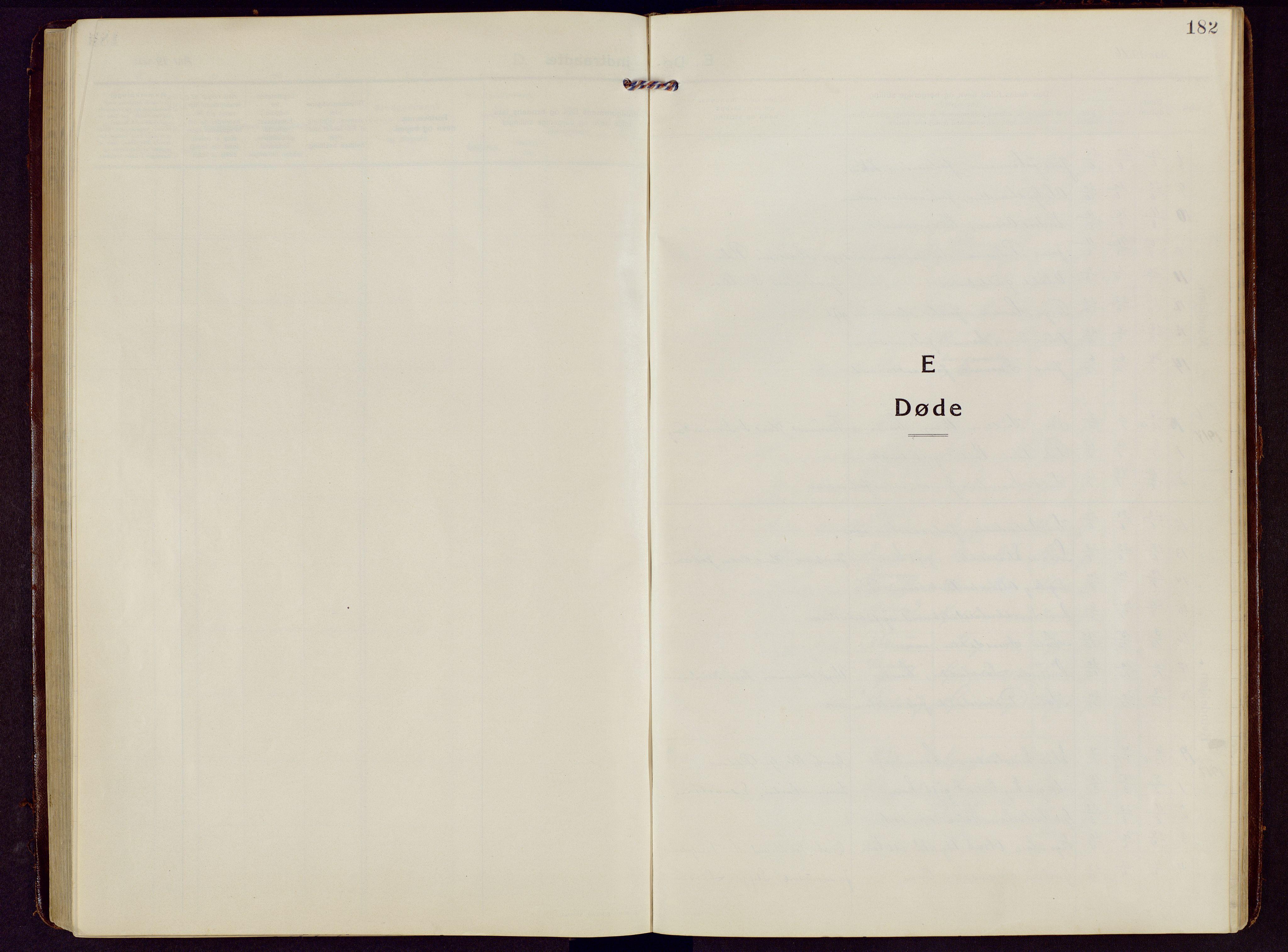 SAH, Brandbu prestekontor, Klokkerbok nr. 10, 1916-1930, s. 182