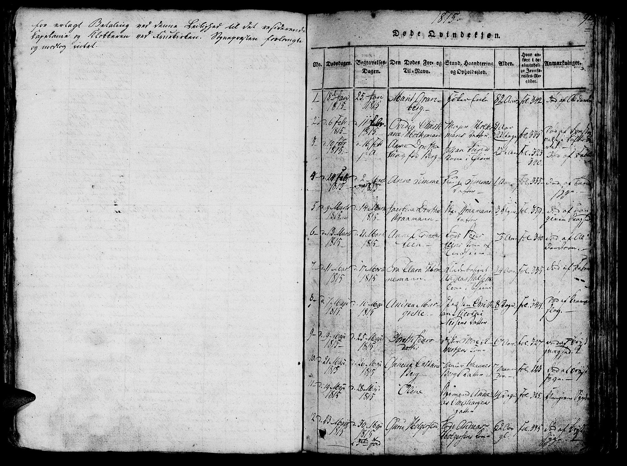 SAT, Ministerialprotokoller, klokkerbøker og fødselsregistre - Sør-Trøndelag, 602/L0135: Klokkerbok nr. 602C03, 1815-1832, s. 92