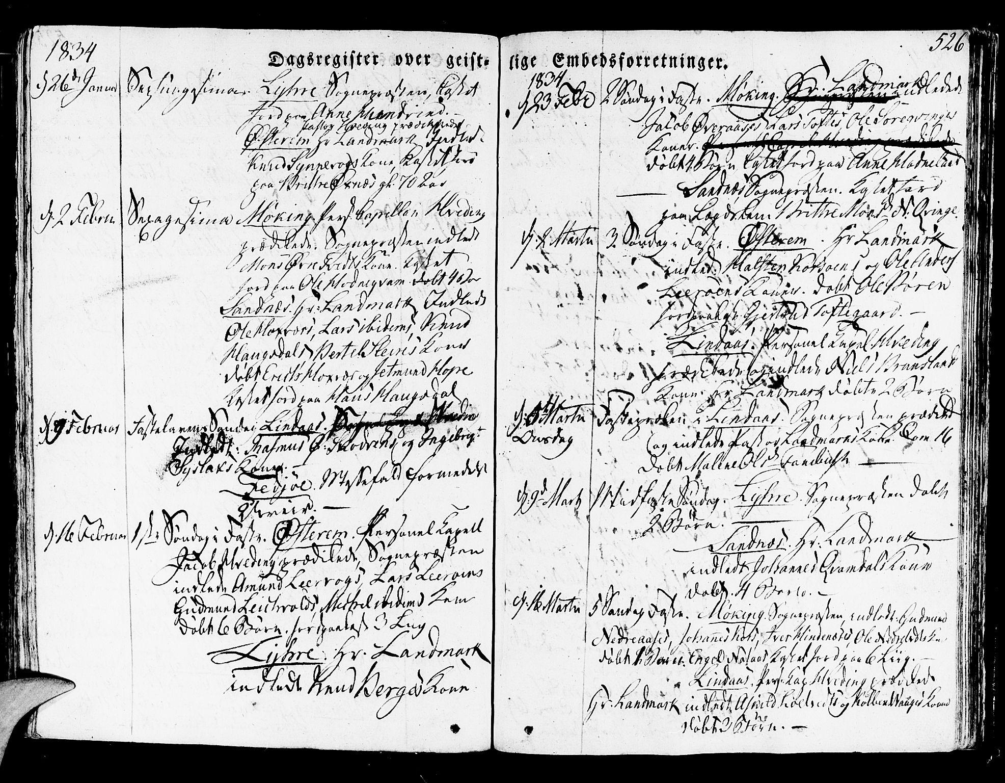 SAB, Lindås Sokneprestembete, H/Haa: Ministerialbok nr. A 8, 1823-1836, s. 526