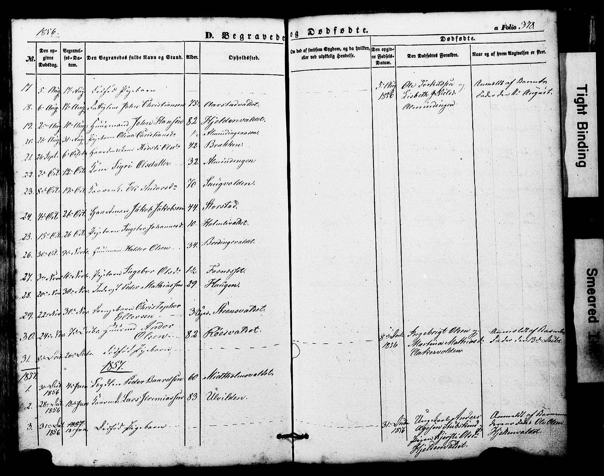 SAT, Ministerialprotokoller, klokkerbøker og fødselsregistre - Nord-Trøndelag, 724/L0268: Klokkerbok nr. 724C04, 1846-1878, s. 378