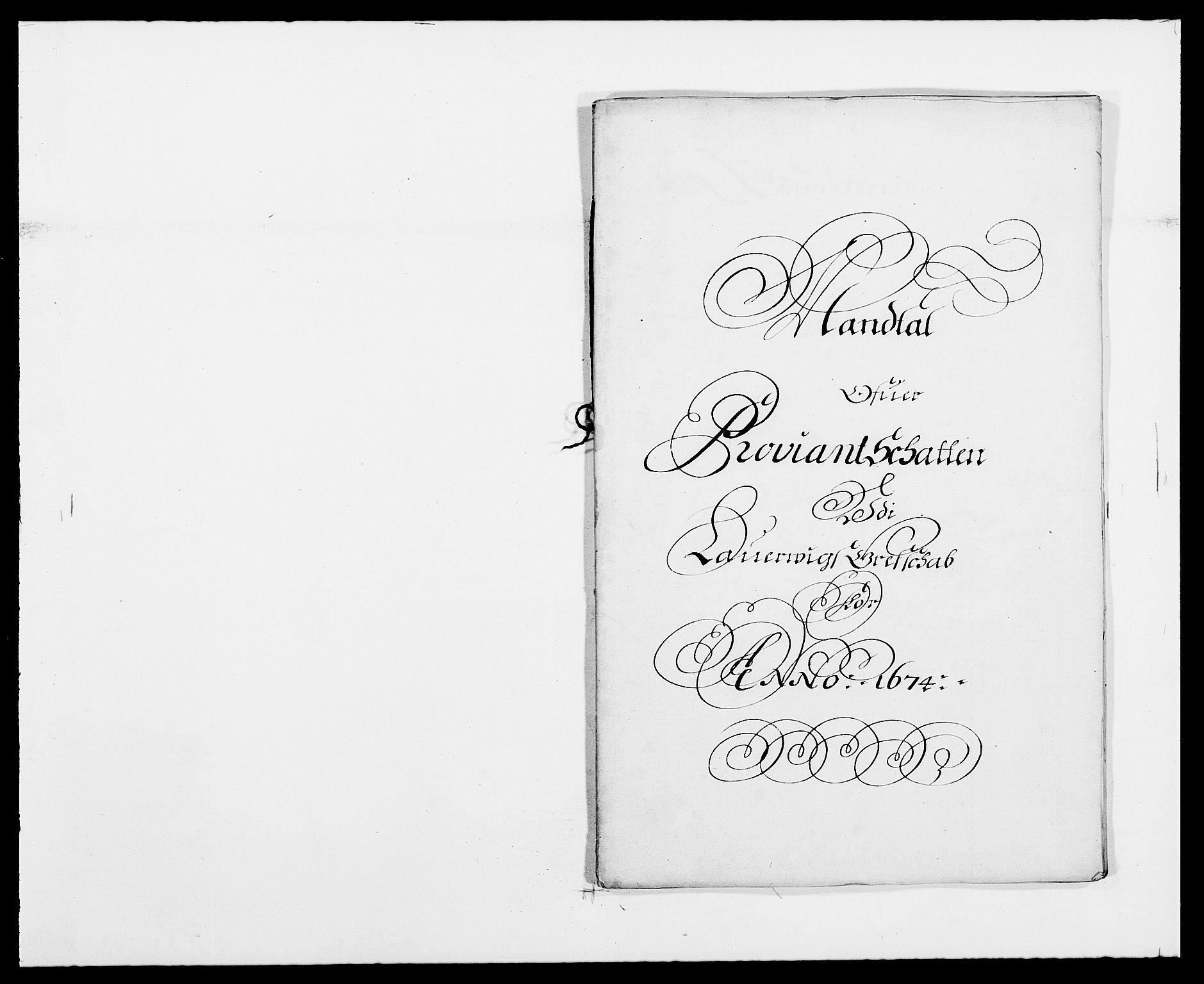 RA, Rentekammeret inntil 1814, Reviderte regnskaper, Fogderegnskap, R33/L1966: Fogderegnskap Larvik grevskap, 1672-1674, s. 248