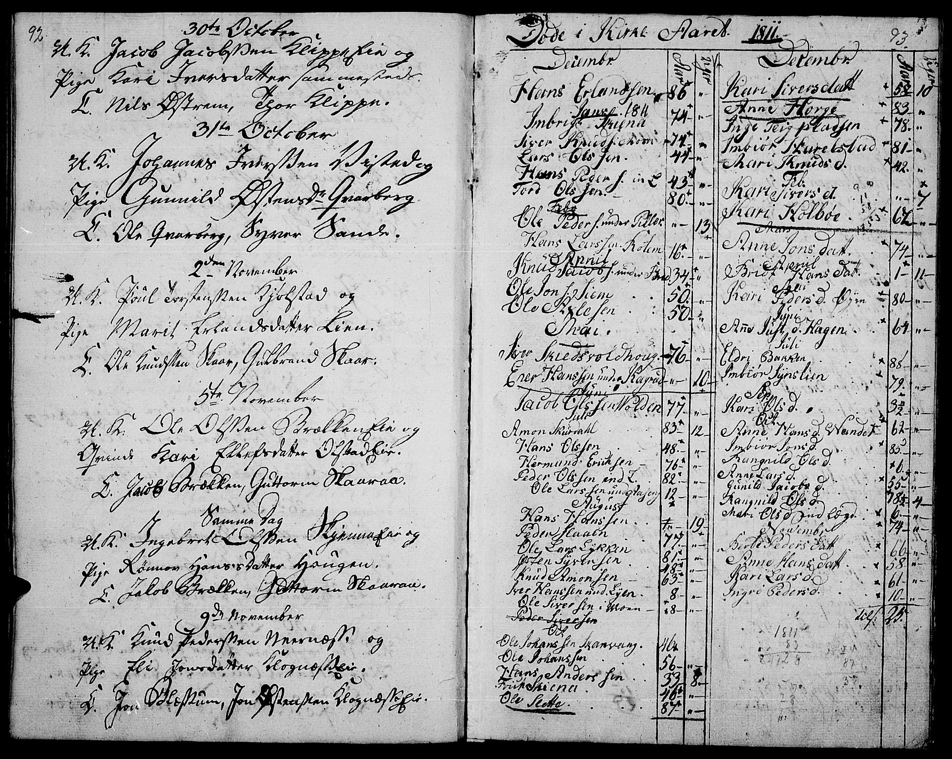SAH, Vågå prestekontor, Ministerialbok nr. 2, 1810-1815, s. 92-93