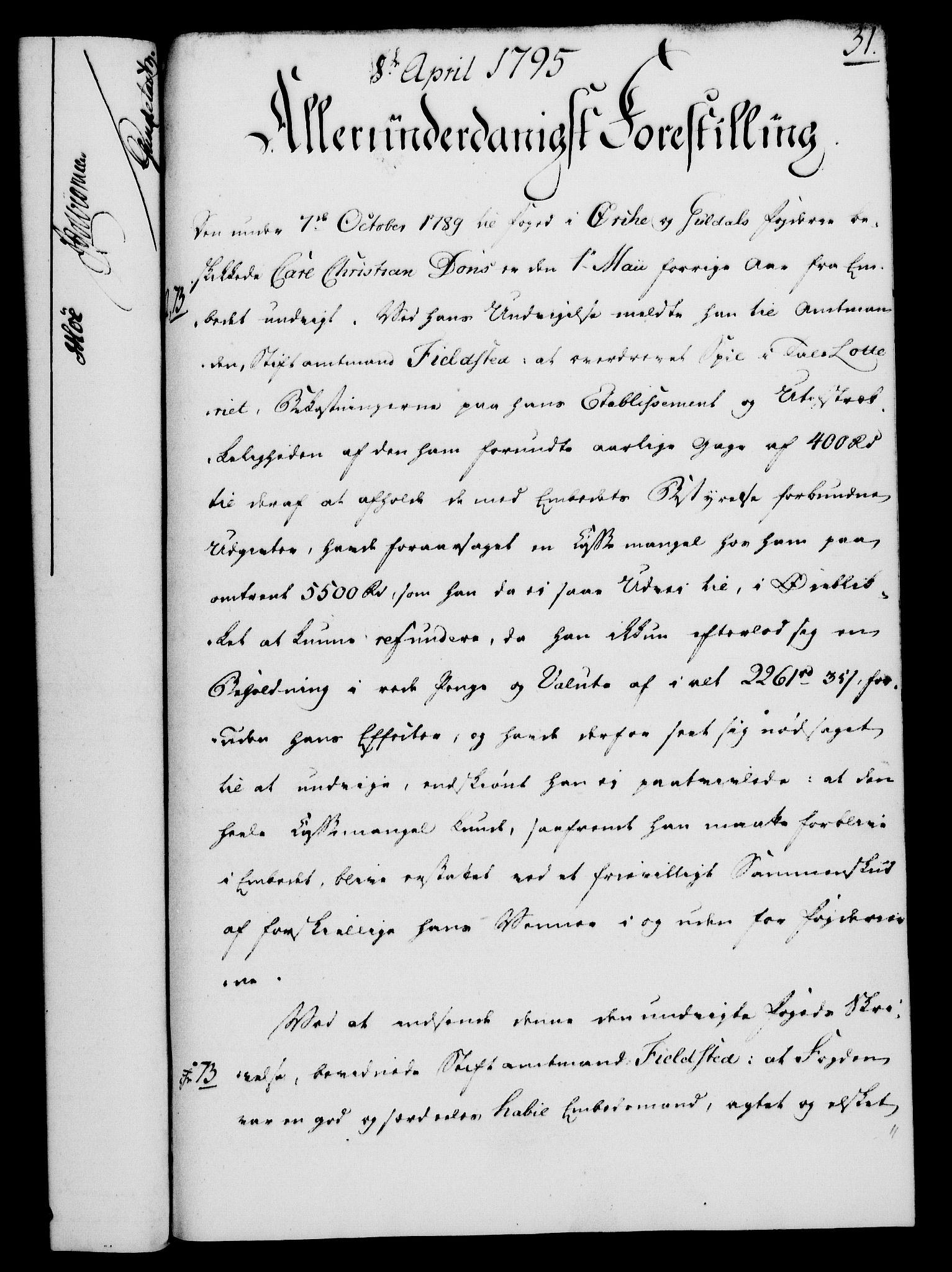 RA, Rentekammeret, Kammerkanselliet, G/Gf/Gfa/L0077: Norsk relasjons- og resolusjonsprotokoll (merket RK 52.77), 1795, s. 182