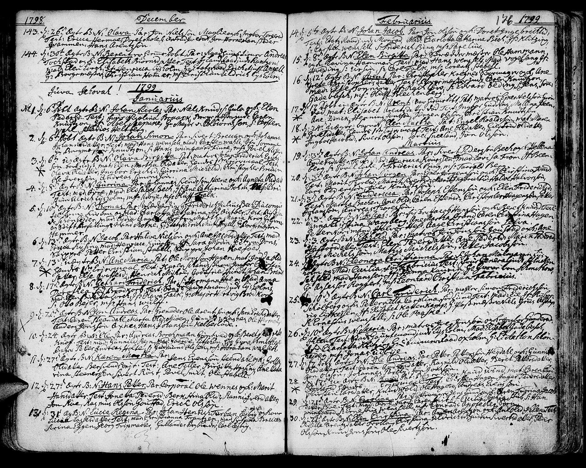 SAT, Ministerialprotokoller, klokkerbøker og fødselsregistre - Sør-Trøndelag, 601/L0039: Ministerialbok nr. 601A07, 1770-1819, s. 126