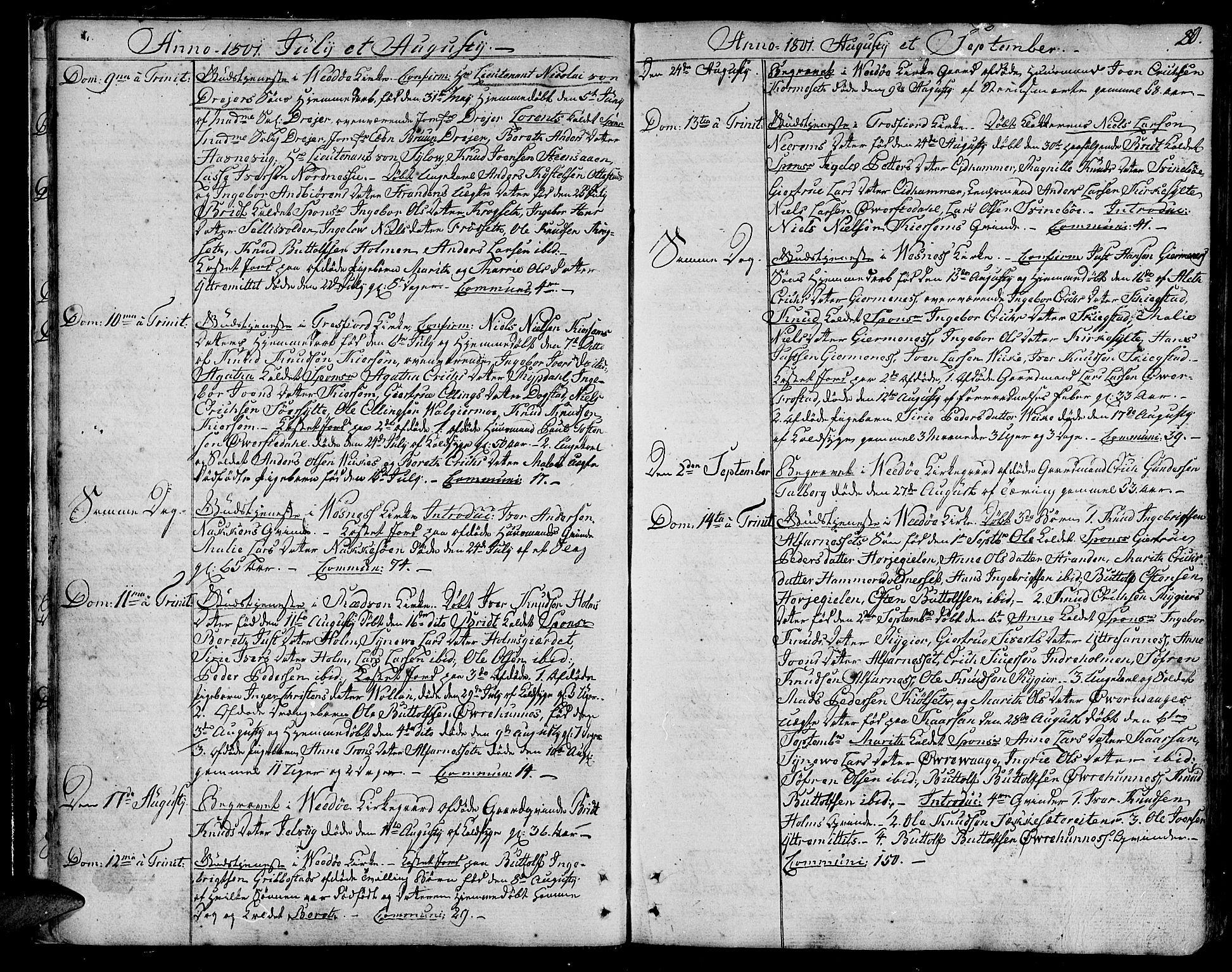 SAT, Ministerialprotokoller, klokkerbøker og fødselsregistre - Møre og Romsdal, 547/L0601: Ministerialbok nr. 547A03, 1799-1818, s. 20
