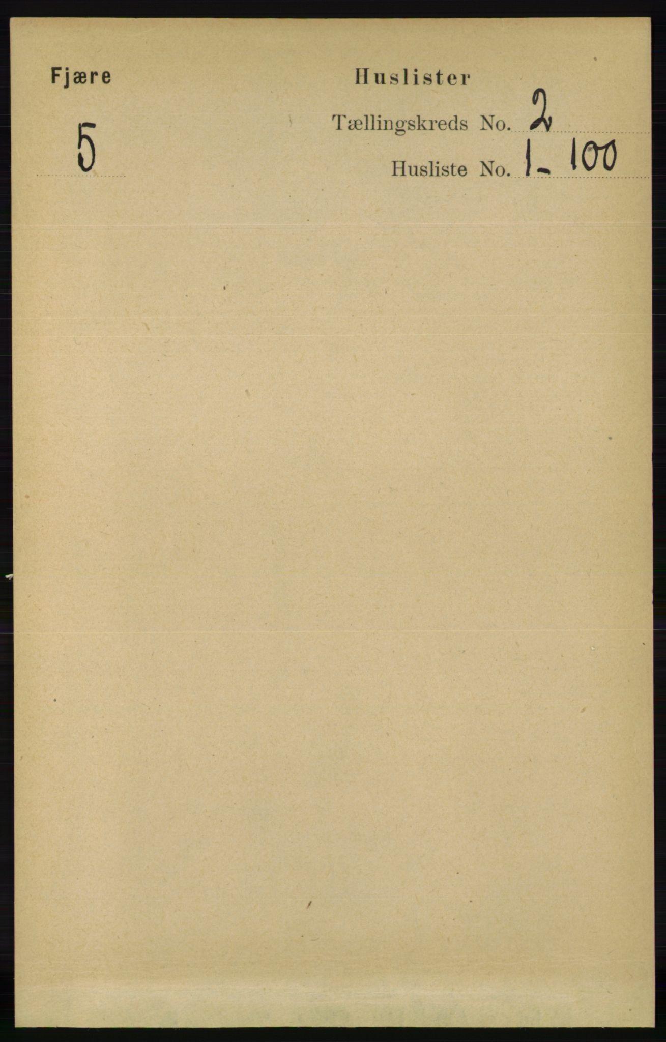 RA, Folketelling 1891 for 0923 Fjære herred, 1891, s. 635