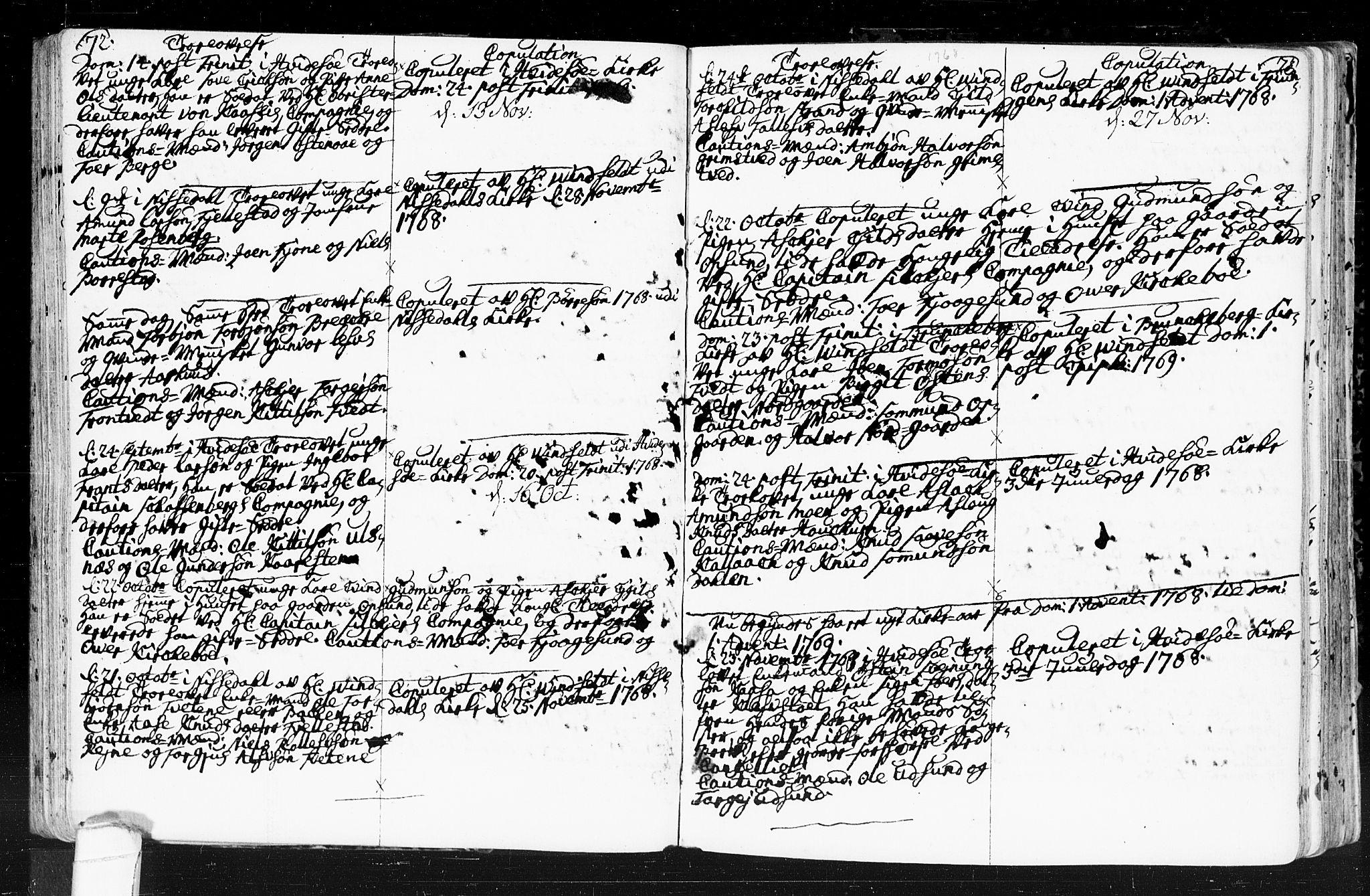 SAKO, Kviteseid kirkebøker, F/Fa/L0001: Ministerialbok nr. I 1, 1754-1773, s. 72-73