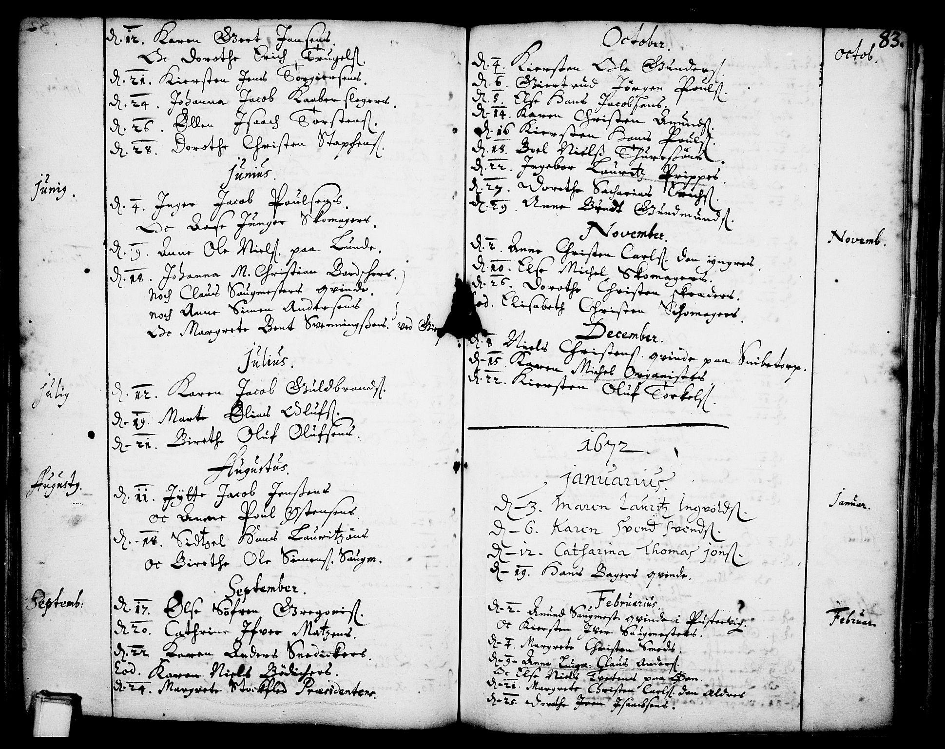 SAKO, Skien kirkebøker, F/Fa/L0001: Ministerialbok nr. 1, 1659-1679, s. 83