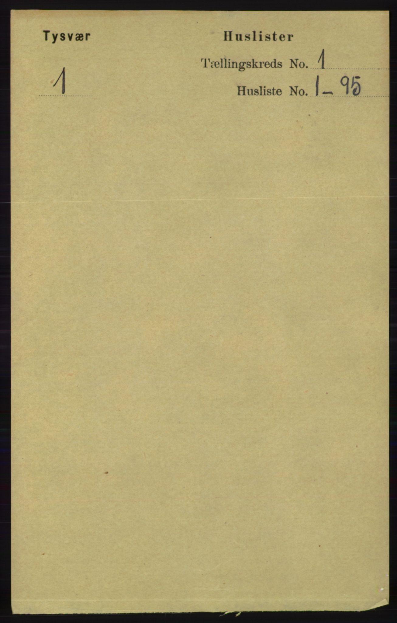 RA, Folketelling 1891 for 1146 Tysvær herred, 1891, s. 18