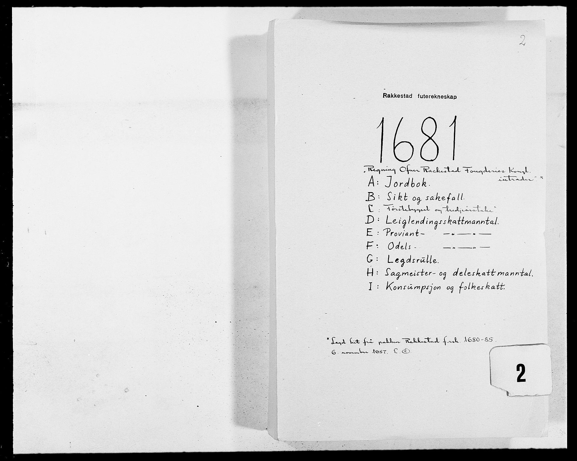RA, Rentekammeret inntil 1814, Reviderte regnskaper, Fogderegnskap, R05/L0272: Fogderegnskap Rakkestad, 1680-1681, s. 208