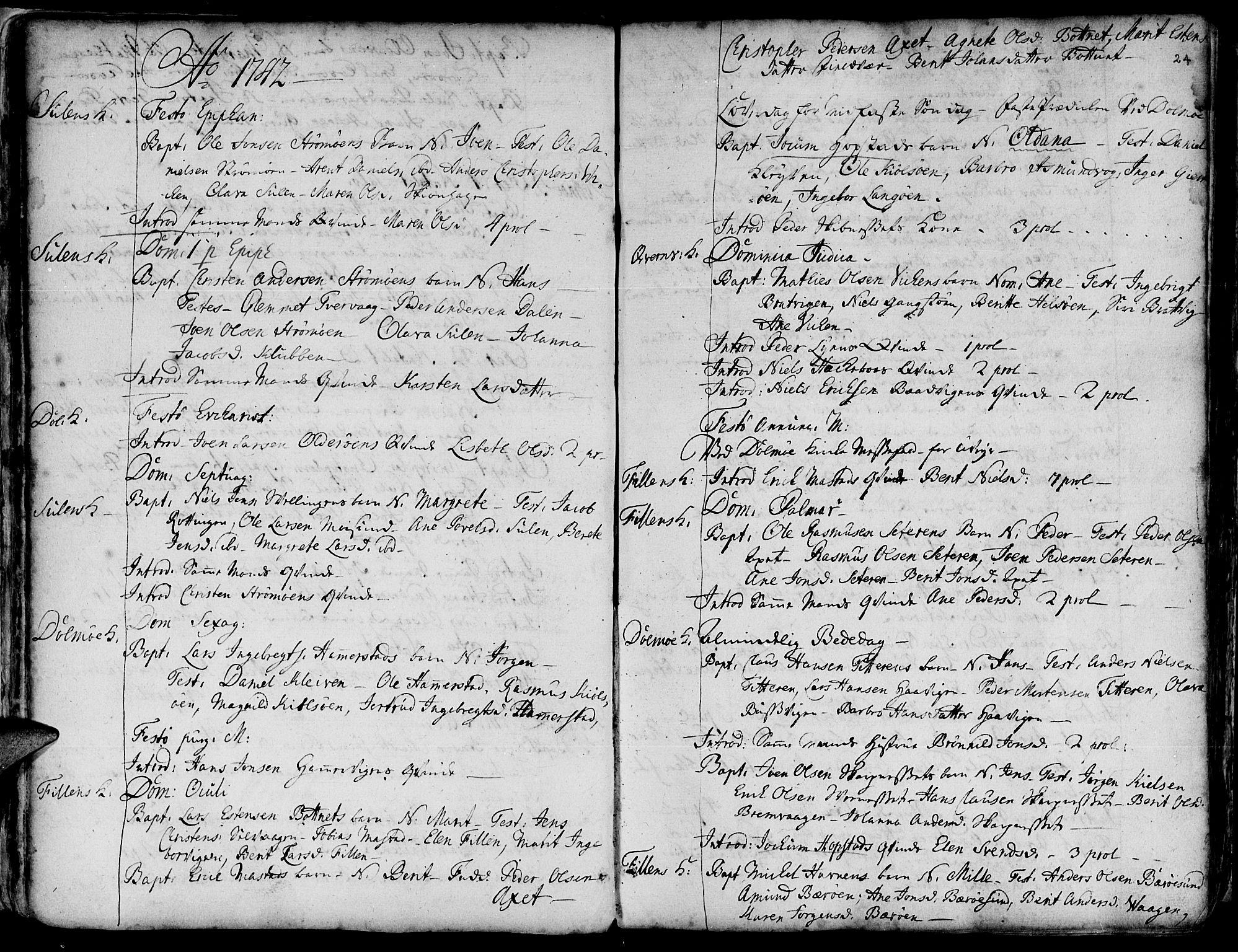 SAT, Ministerialprotokoller, klokkerbøker og fødselsregistre - Sør-Trøndelag, 634/L0525: Ministerialbok nr. 634A01, 1736-1775, s. 24