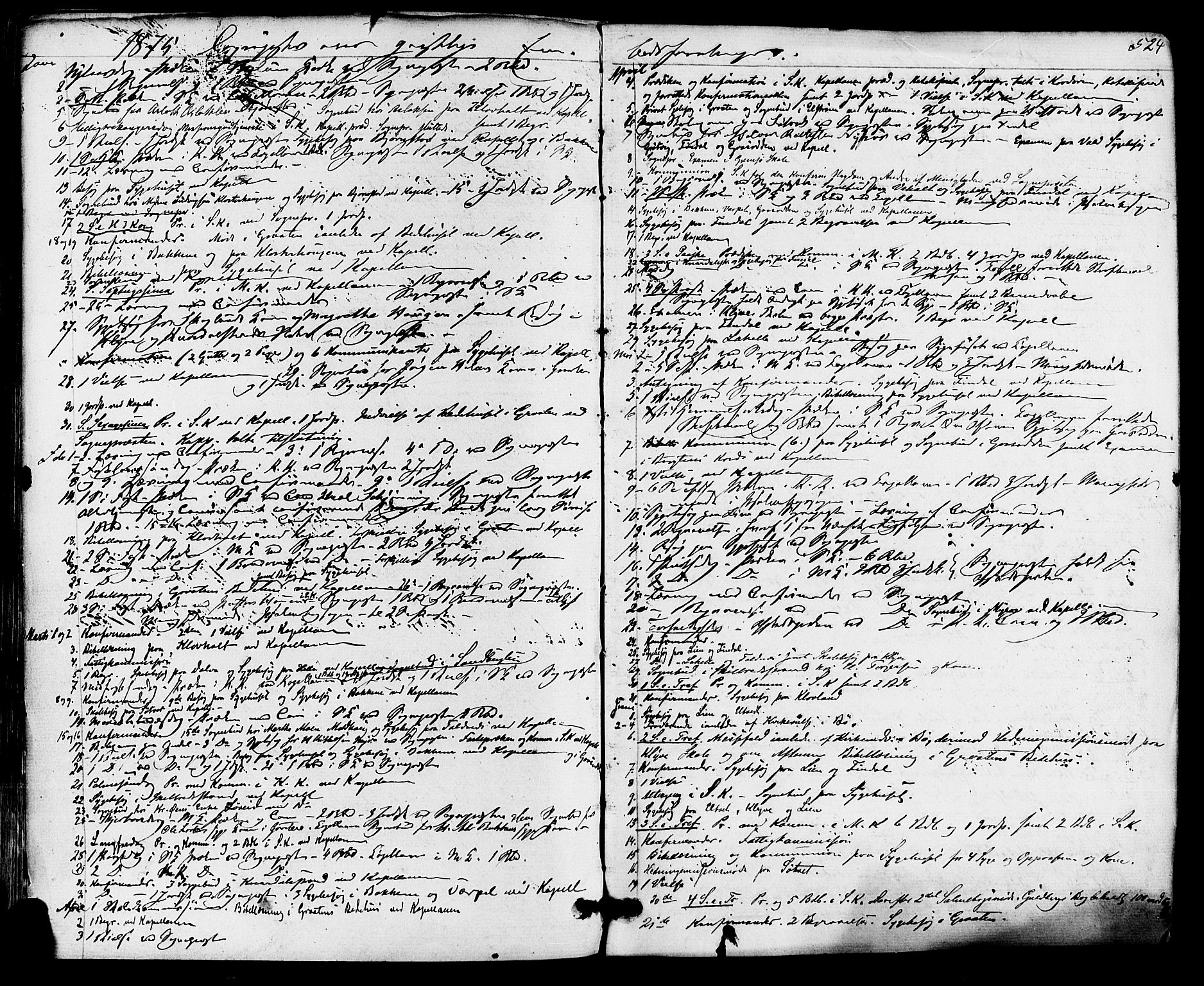 SAKO, Solum kirkebøker, F/Fa/L0008: Ministerialbok nr. I 8, 1865-1876, s. 524