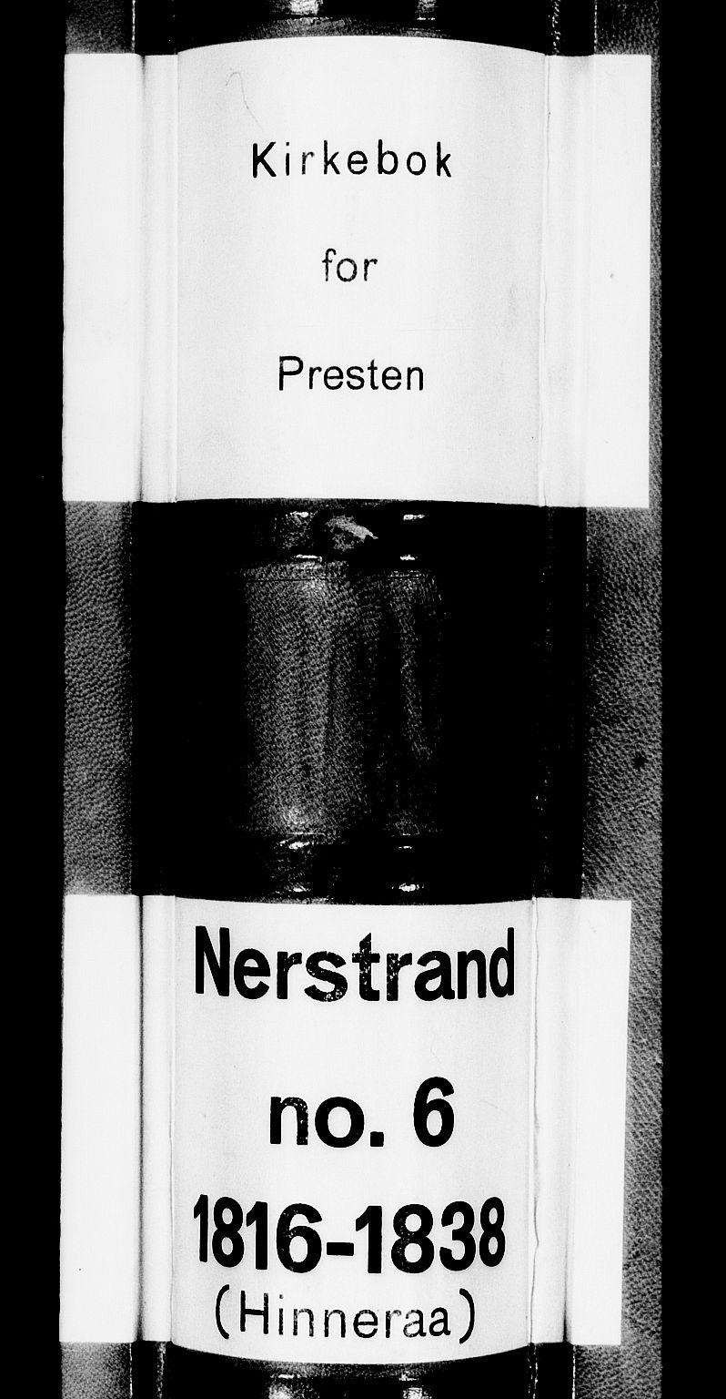 SAST, Nedstrand sokneprestkontor, IV: Ministerialbok nr. A 6, 1816-1838