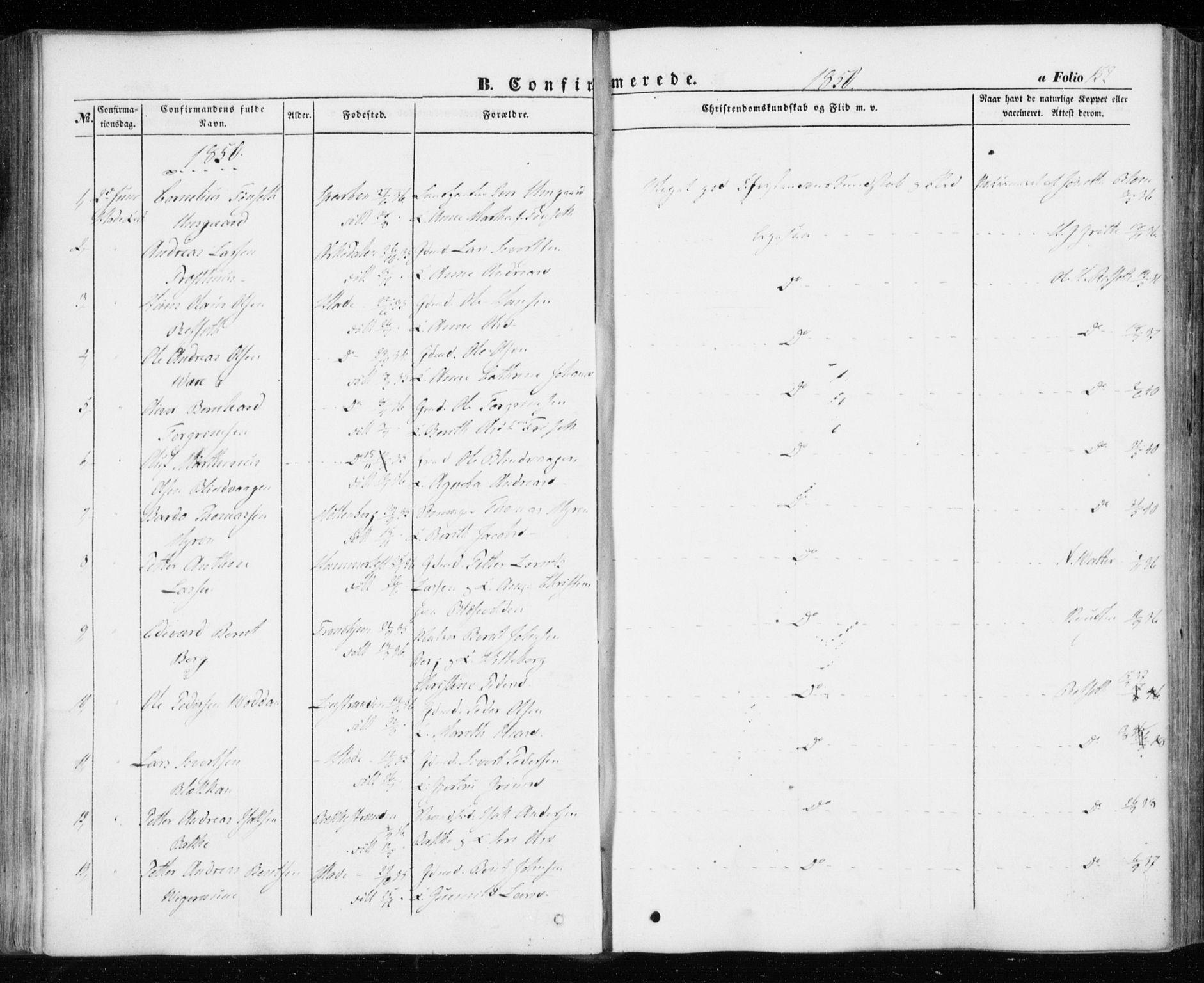 SAT, Ministerialprotokoller, klokkerbøker og fødselsregistre - Sør-Trøndelag, 606/L0291: Ministerialbok nr. 606A06, 1848-1856, s. 152