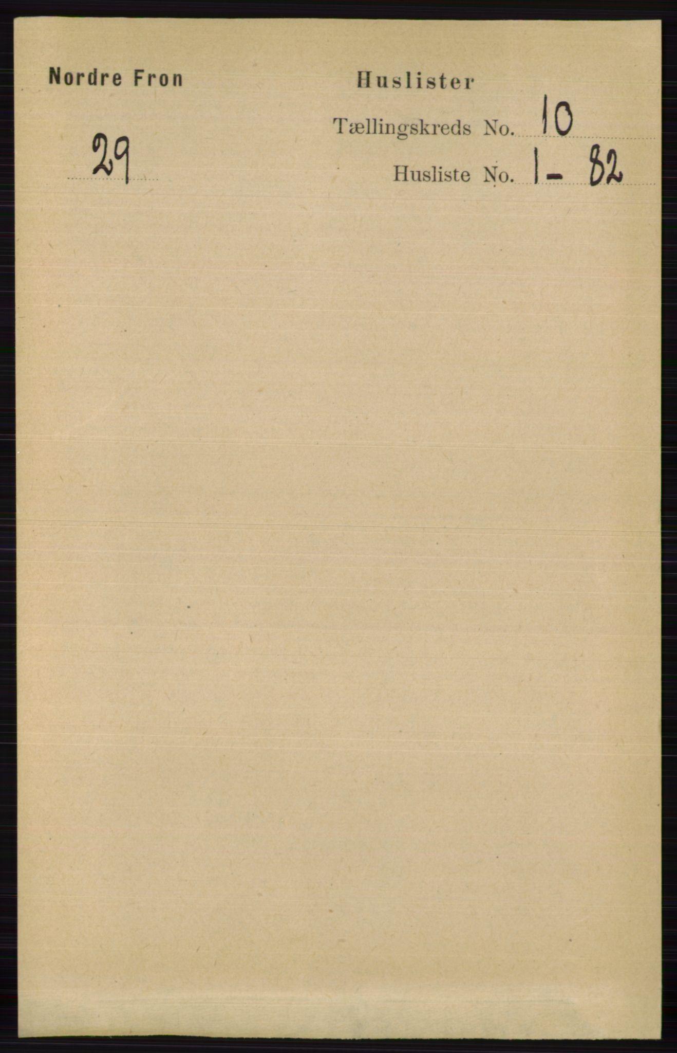 RA, Folketelling 1891 for 0518 Nord-Fron herred, 1891, s. 4300