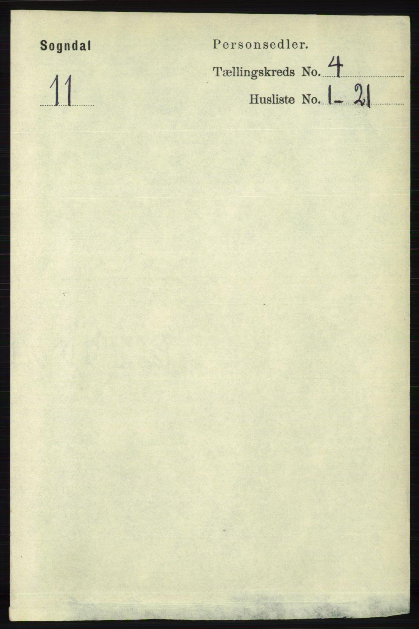 RA, Folketelling 1891 for 1111 Sokndal herred, 1891, s. 1002