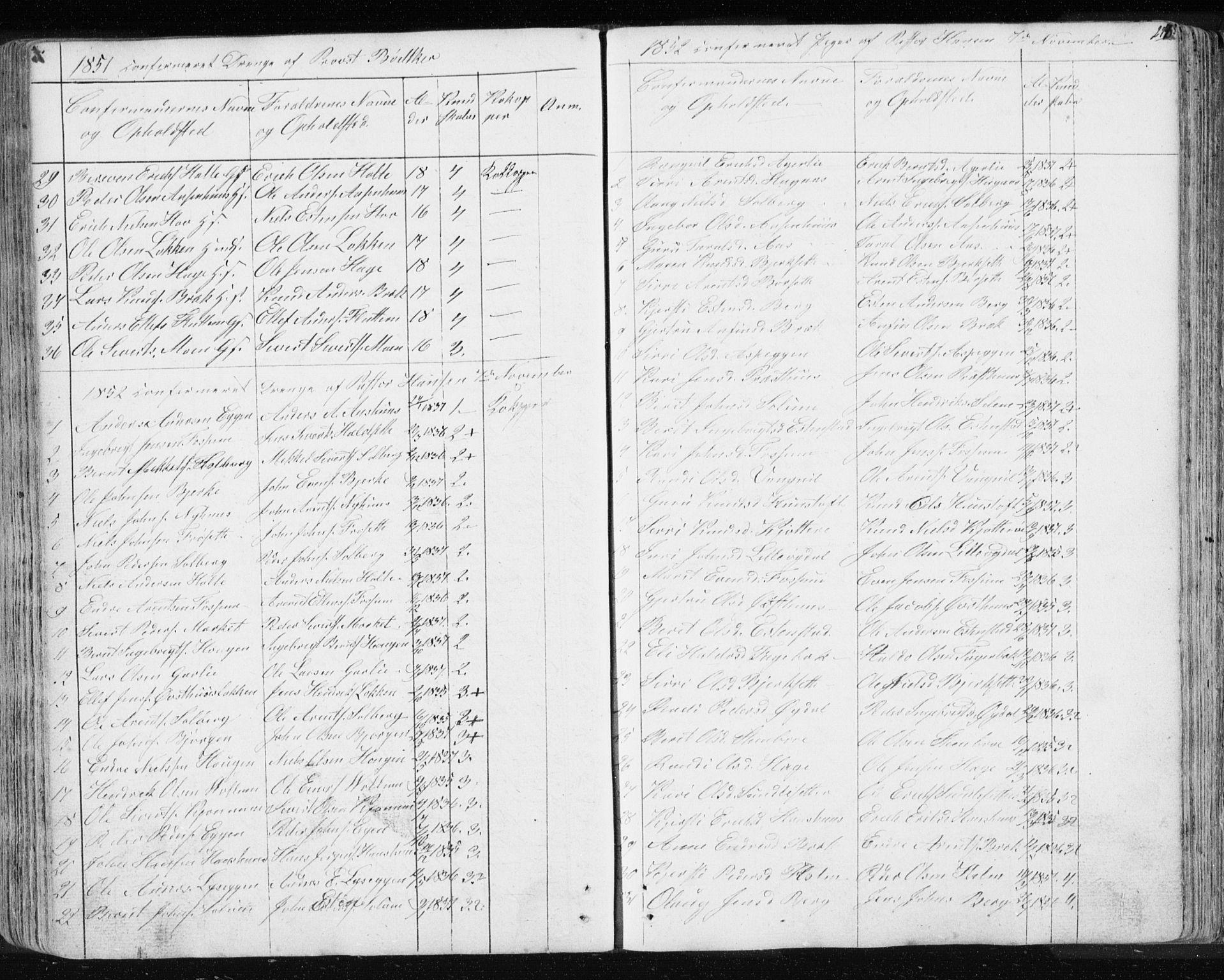 SAT, Ministerialprotokoller, klokkerbøker og fødselsregistre - Sør-Trøndelag, 689/L1043: Klokkerbok nr. 689C02, 1816-1892, s. 273
