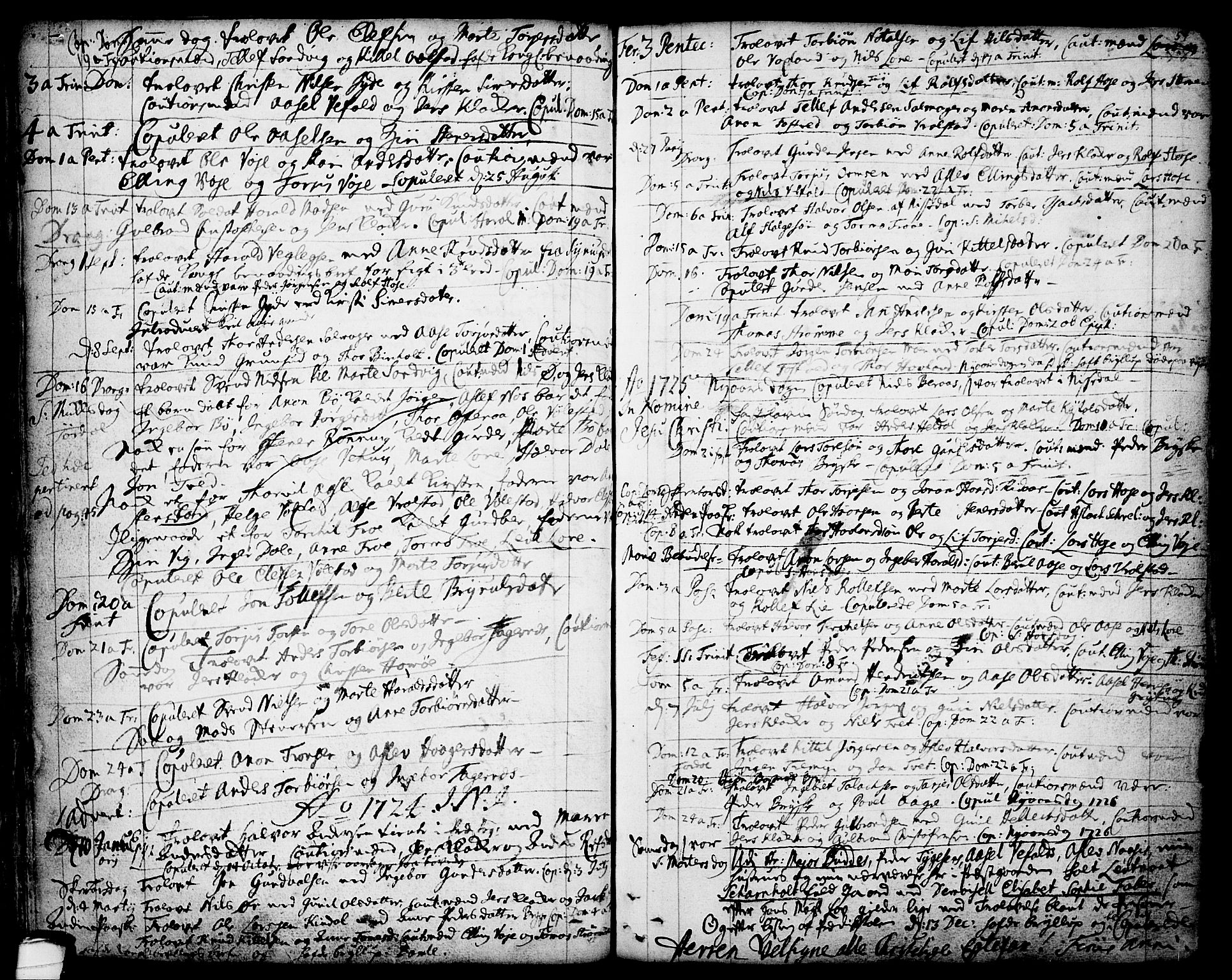 SAKO, Drangedal kirkebøker, F/Fa/L0001: Ministerialbok nr. 1, 1697-1767, s. 54